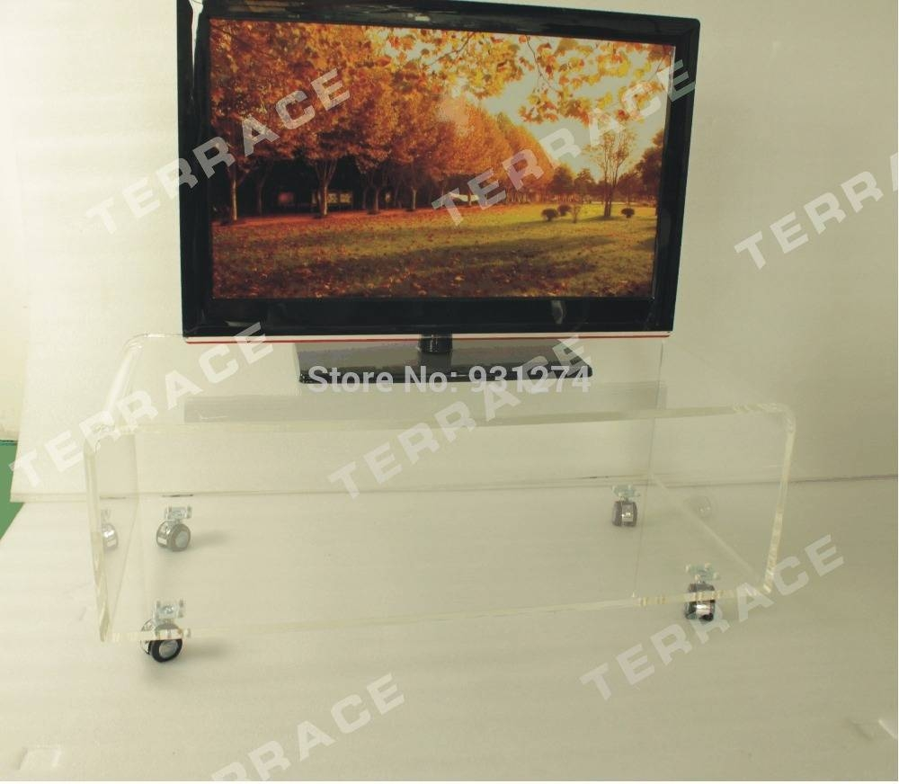 Aliexpress : Buy Acrylic Tv Stand With Wheels,lucite Side with Acrylic Tv Stands (Image 4 of 15)
