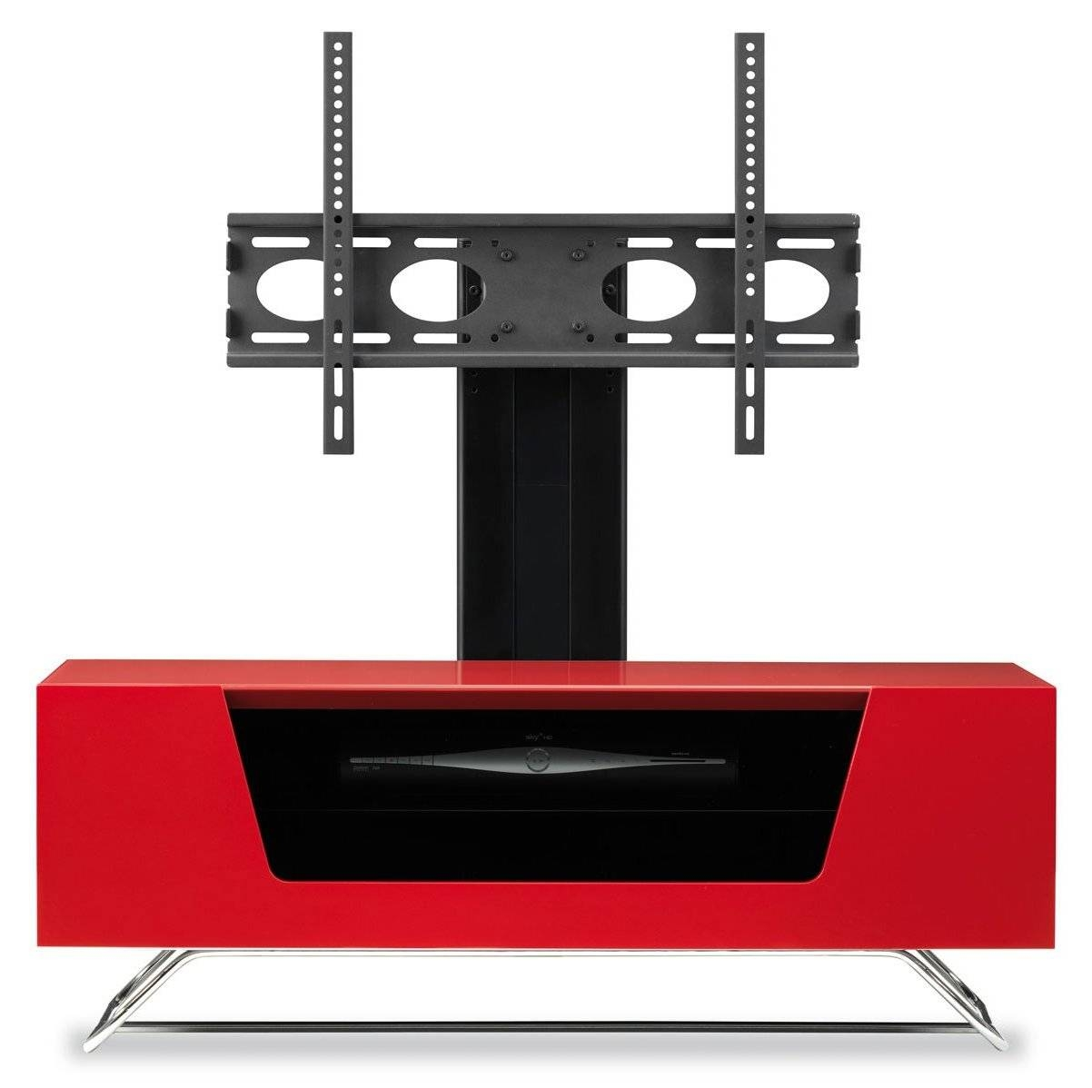Alphason Chromium Red Cantilever Tv Stand throughout Red Tv Stands (Image 1 of 15)