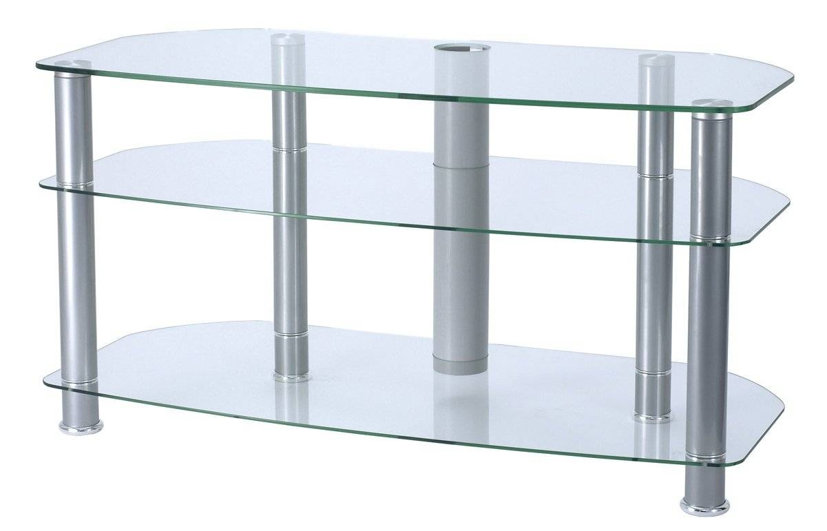 top 15 of clear glass tv stand. Black Bedroom Furniture Sets. Home Design Ideas