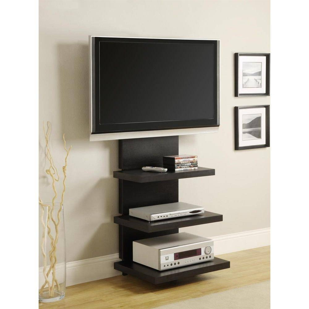 Altra Furniture Elevation Black Entertainment Center-1186096 - The intended for Tall Black Tv Cabinets (Image 1 of 15)