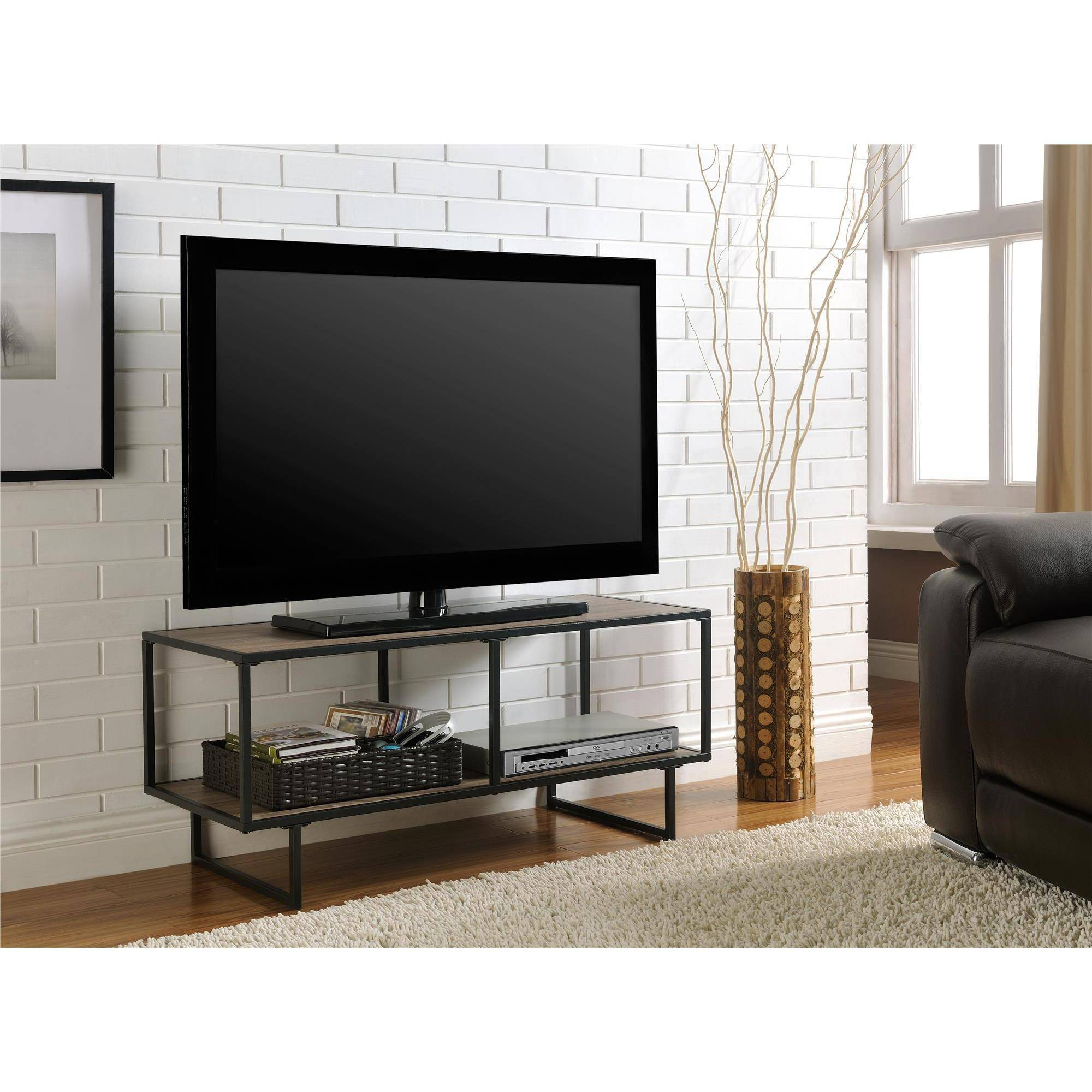 Altra Furniture Emmett 1 Shelf Tv Stand Coffee Table In Sonoma Oak pertaining to Grey Tv Stands (Image 2 of 15)