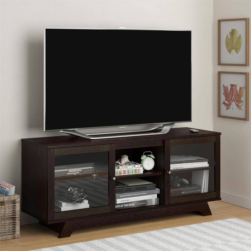 Altra Furniture Englewood Cinnamon Cherry Storage Entertainment intended for Cherry Wood Tv Stands (Image 1 of 15)