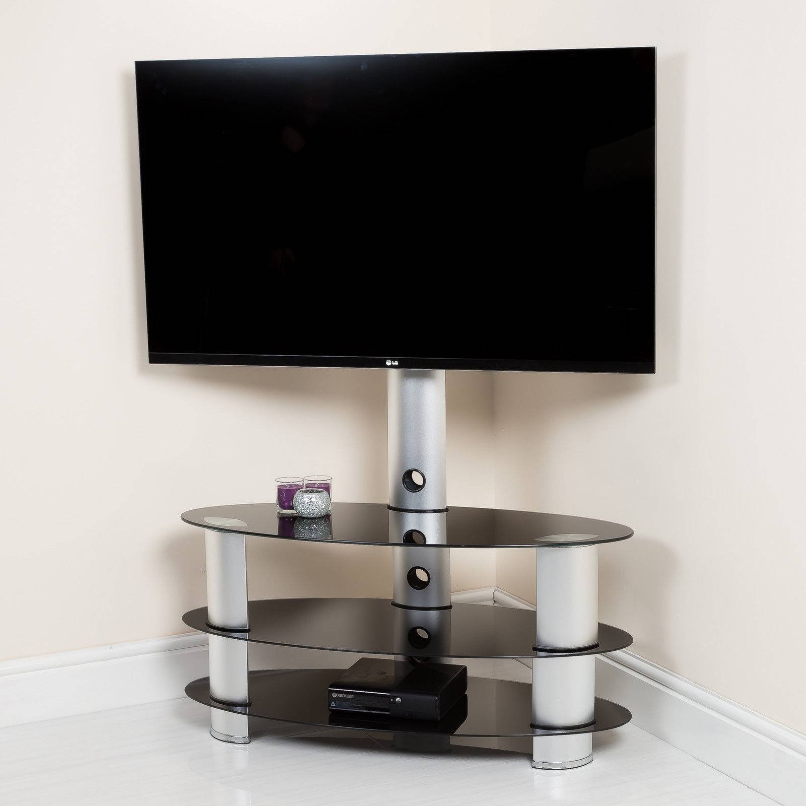 Aluminium Tv Stands | Ebay in Oval Glass Tv Stands (Image 2 of 15)