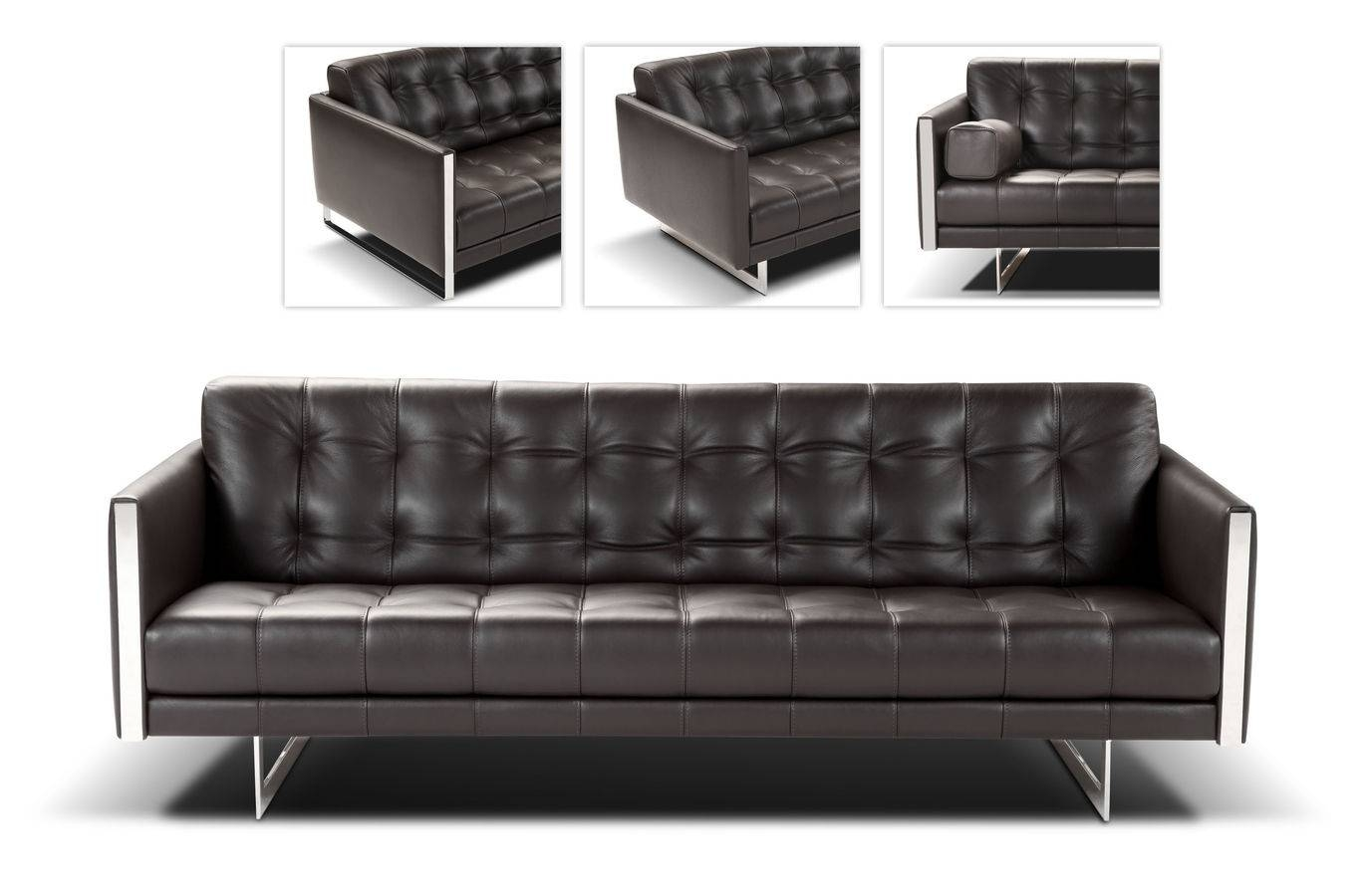 Amazing Modern Leather Sofa 97 On Sofas And Couches Ideas With inside Contemporary Brown Leather Sofas (Image 3 of 15)
