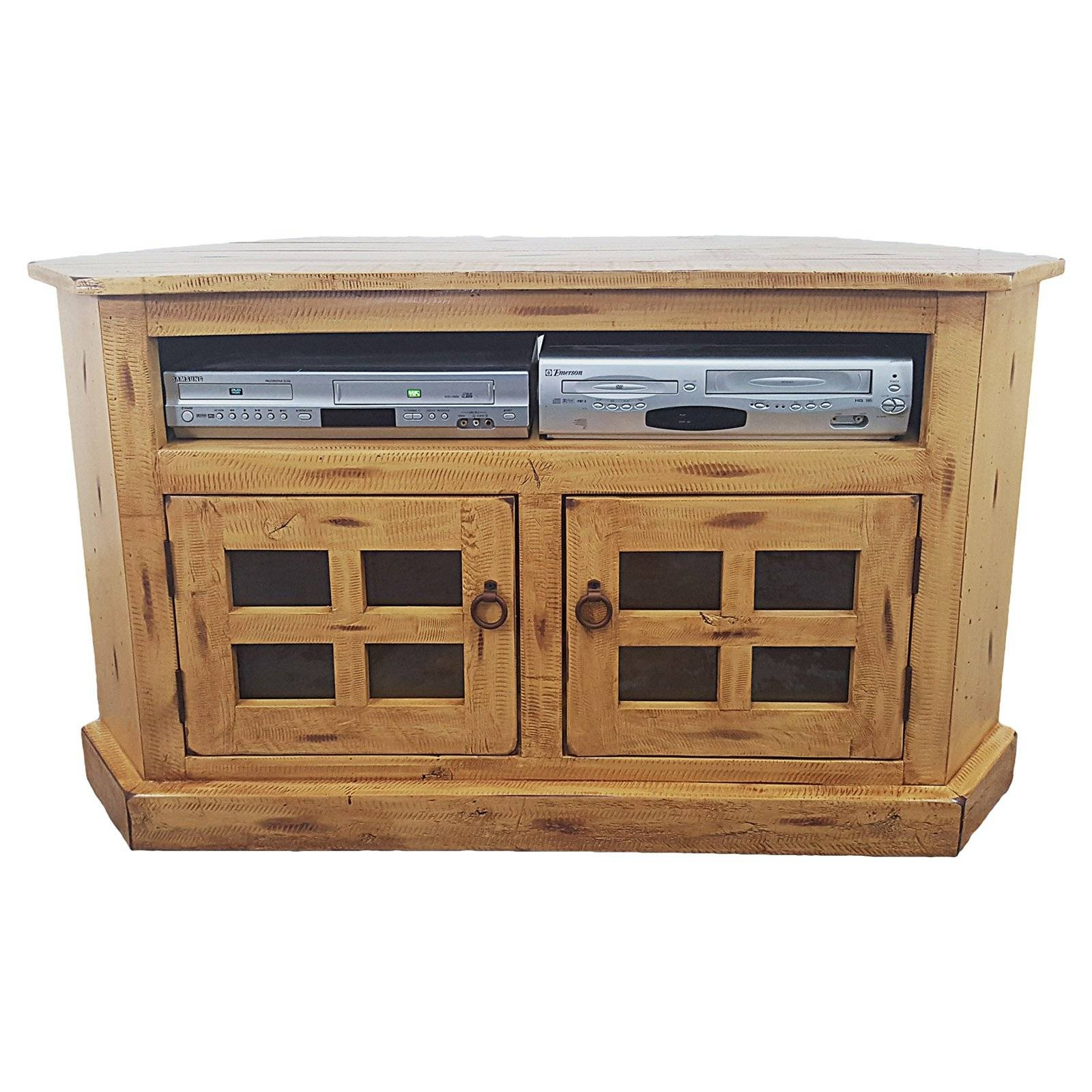 American Heartland Rustic Corner Tv Stand - Assorted Finishes with Rustic Corner Tv Stands (Image 2 of 15)
