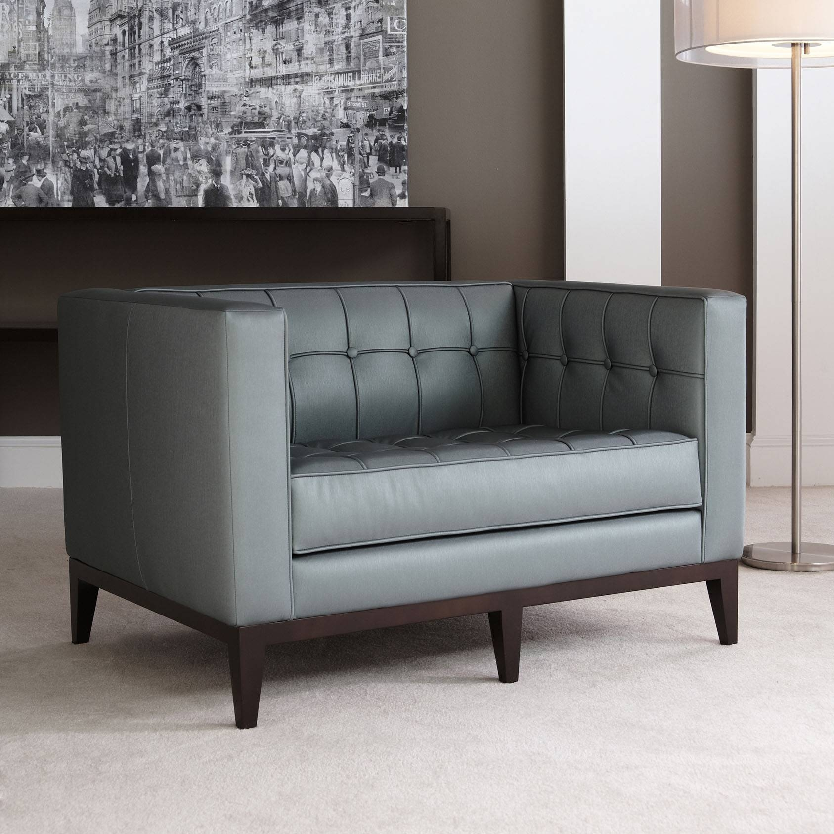 American Leather Luxe Sofa & Ottoman | Modern Design inside Luxe Sofas (Image 2 of 15)