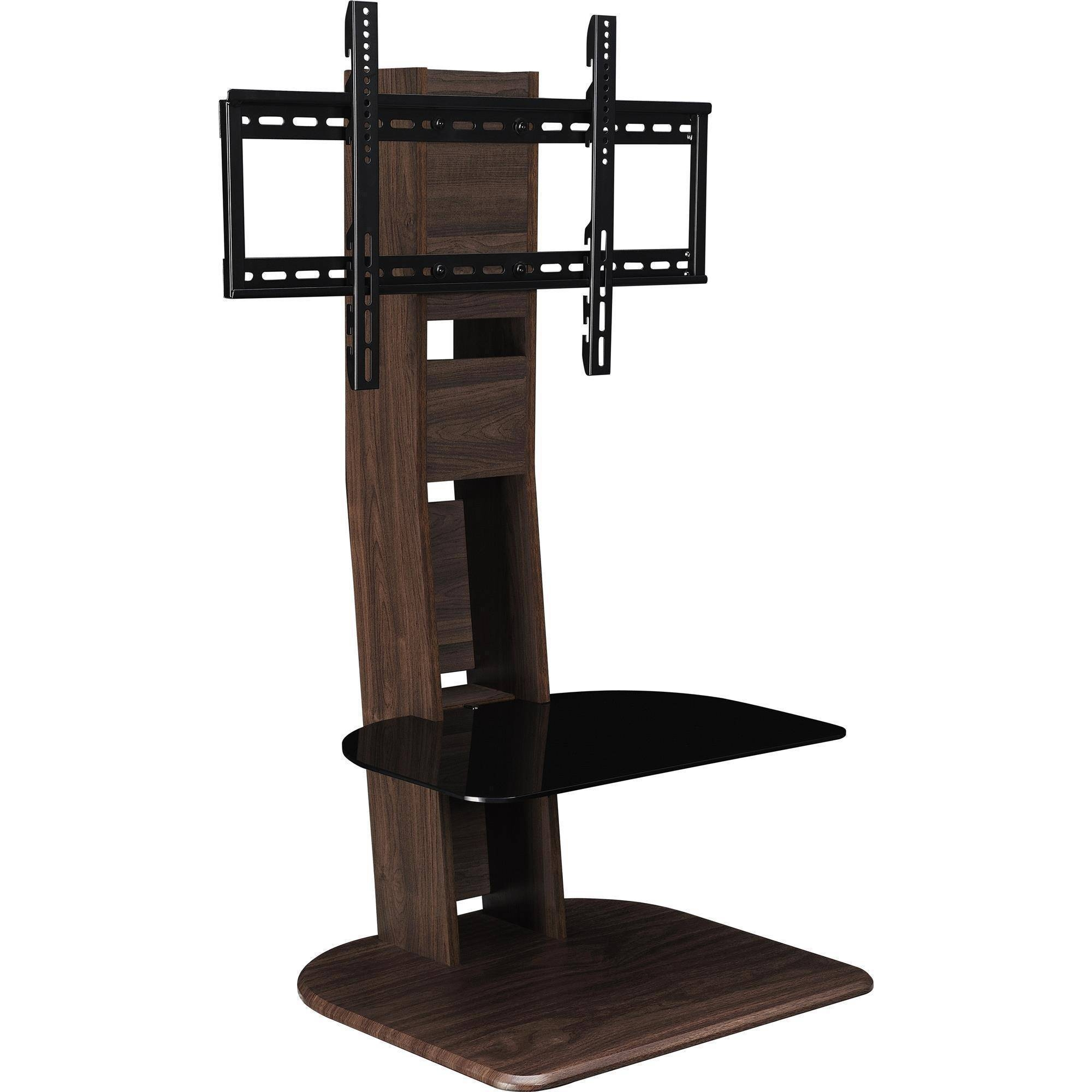 "Ameriwood Home Galaxy Tv Stand With Mount For Tvs Up To 50"", Black pertaining to 24 Inch Tall Tv Stands (Image 2 of 15)"