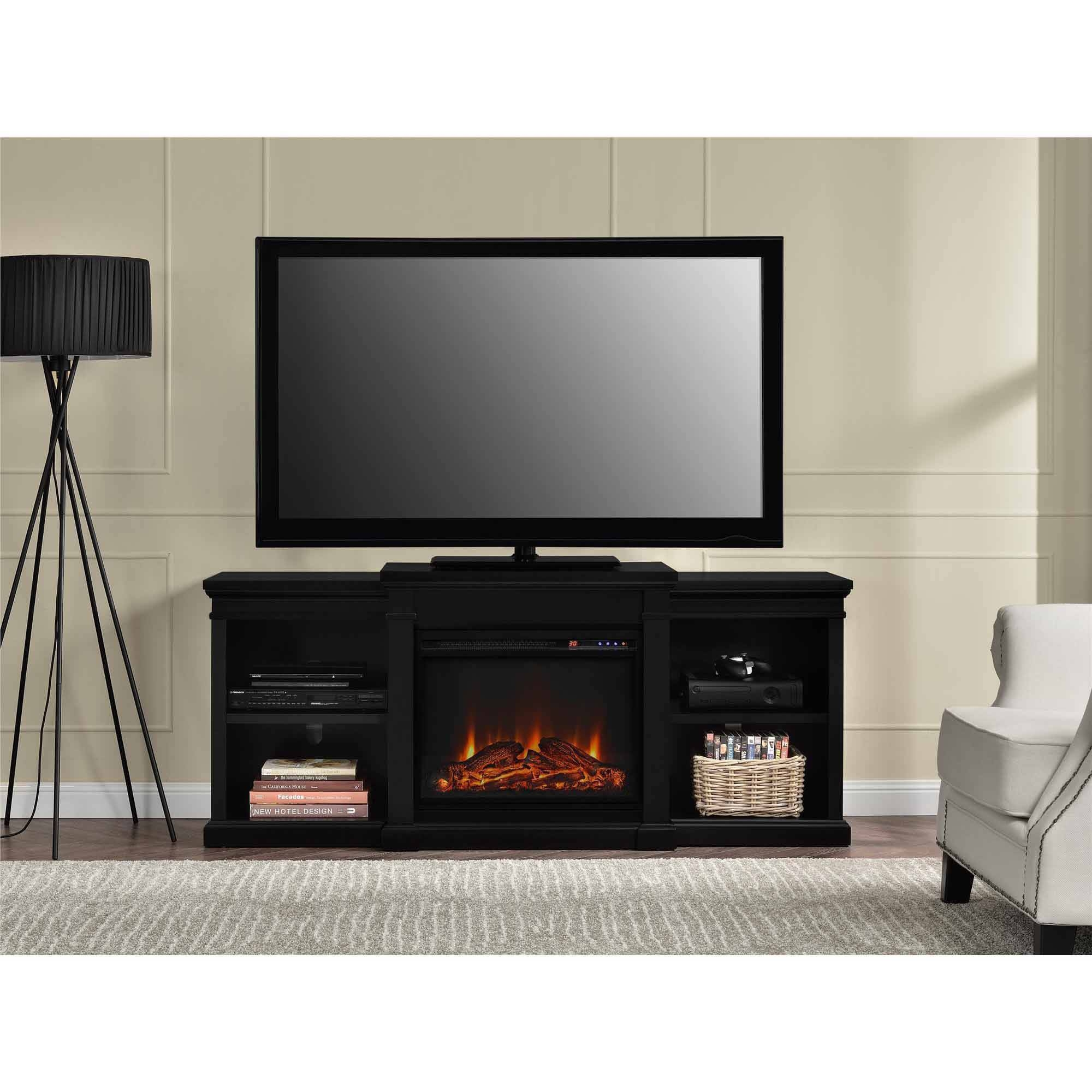 Ameriwood Home Manchester Electric Fireplace Tv Stand For Tvs Up in Tv Stands For 70 Inch Tvs (Image 5 of 15)