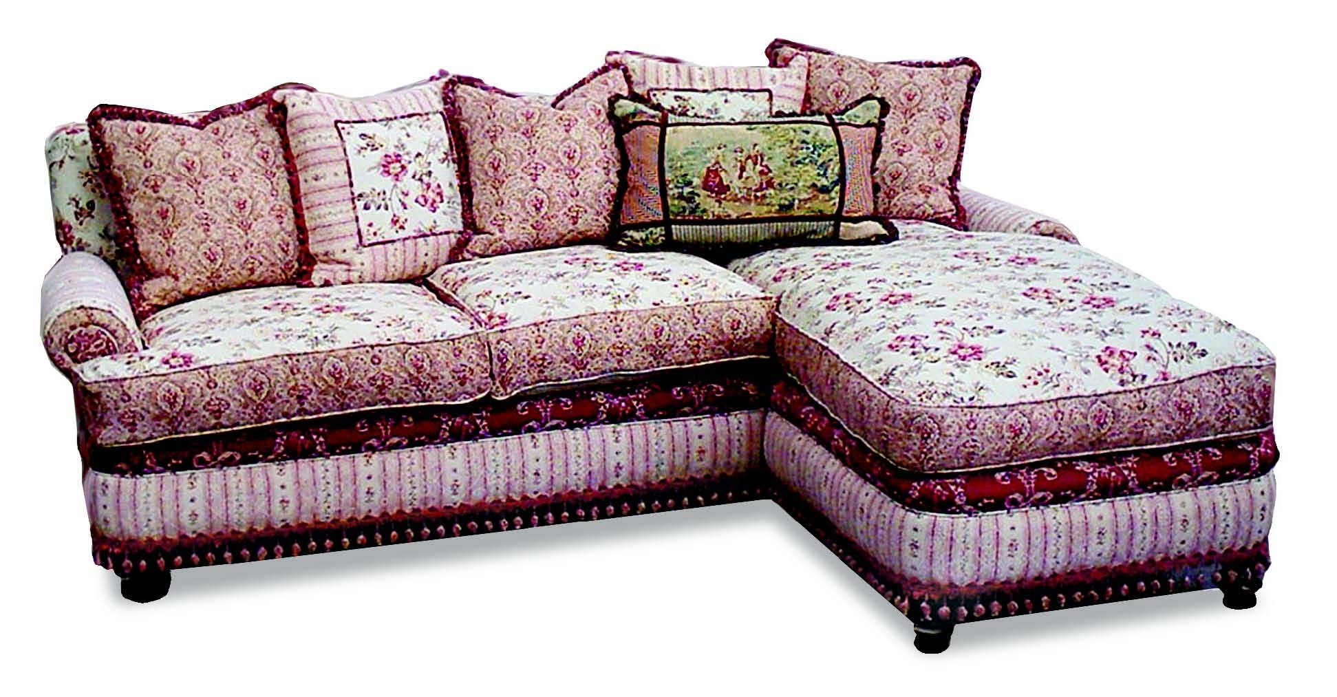 Amusing Shabby Chic Sectional Sofa 16 For Your Deep Leather Within Shabby  Chic Sectional Sofas (