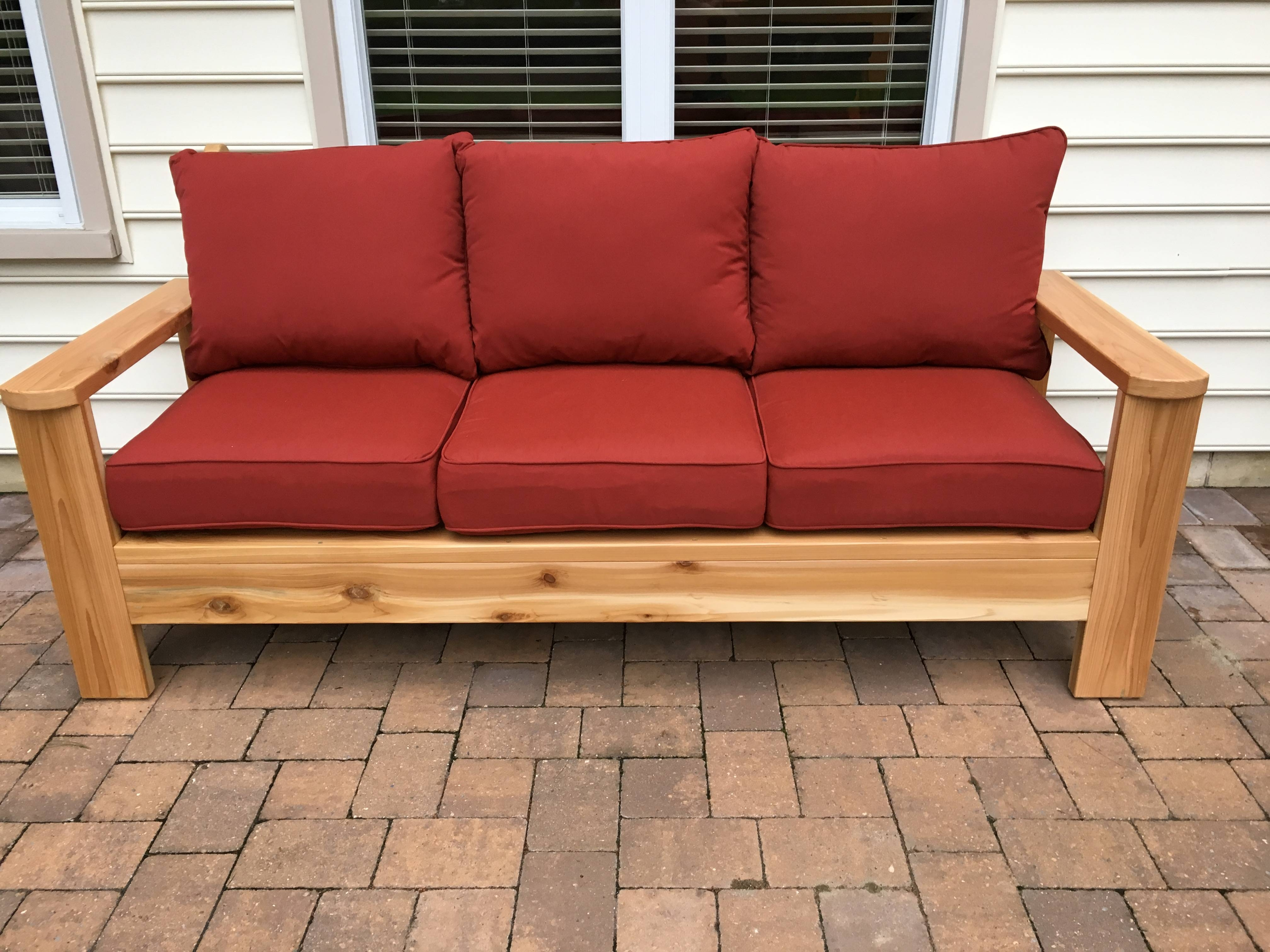 Ana White | Cedar Outdoor Sofa - Diy Projects throughout Ana White Outdoor Sofas (Image 1 of 15)