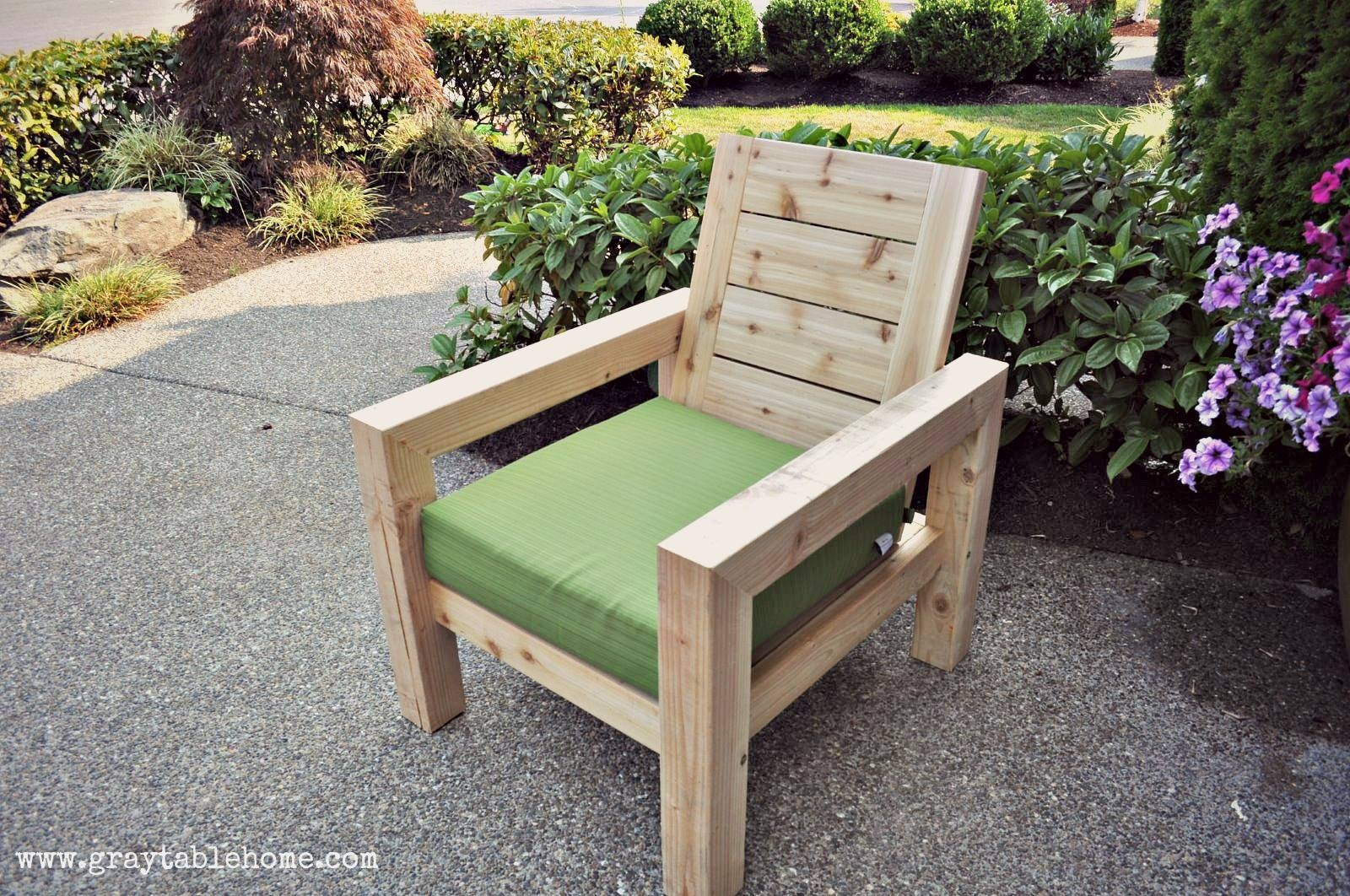Ana White | Diy Modern Rustic Outdoor Chair - Diy Projects pertaining to Ana White Outdoor Sofas (Image 2 of 15)