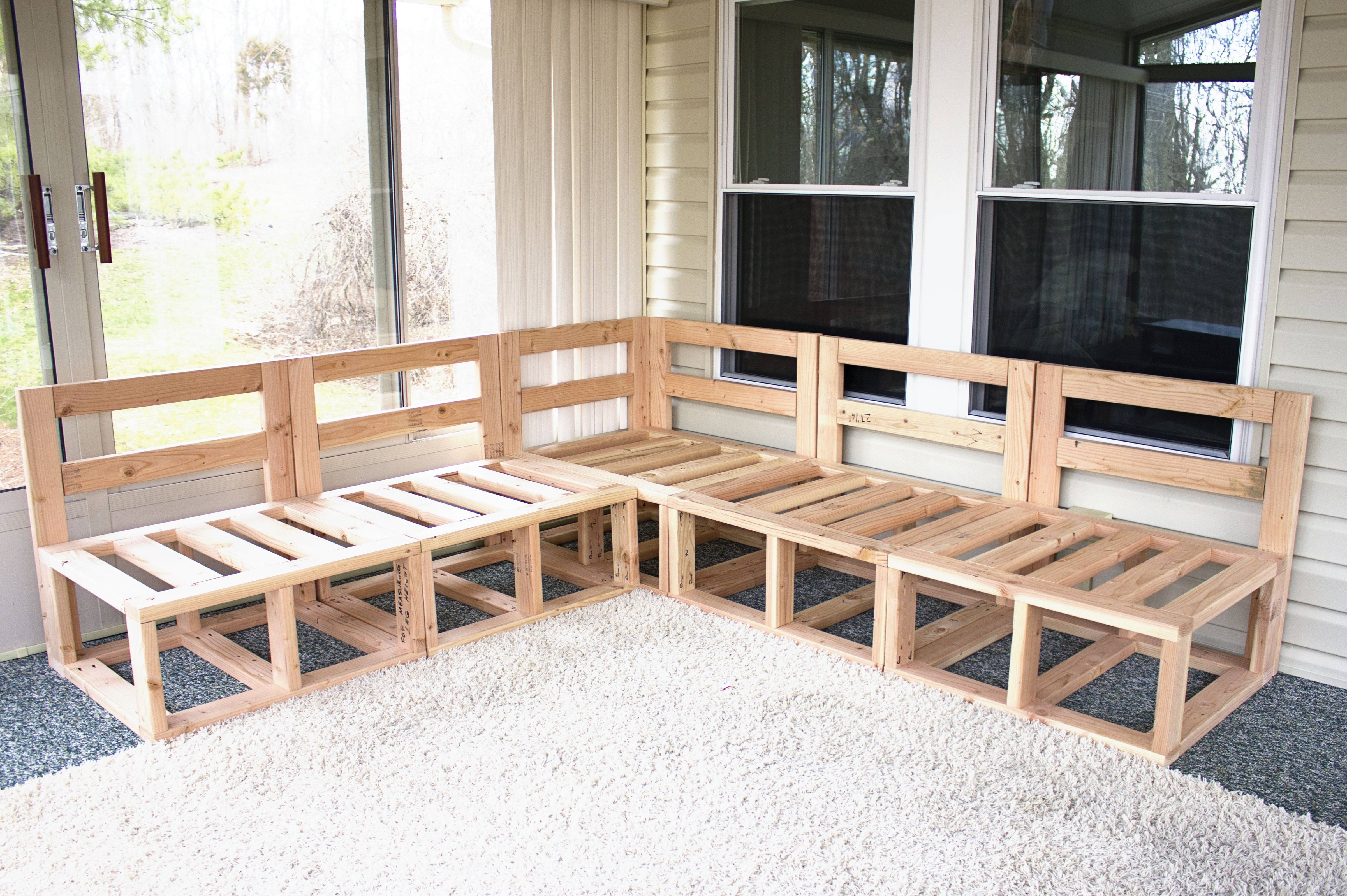 Ana White | Outdoor Sectional - Diy Projects with regard to Ana White Outdoor Sectional Sofas (Image 7 of 15)