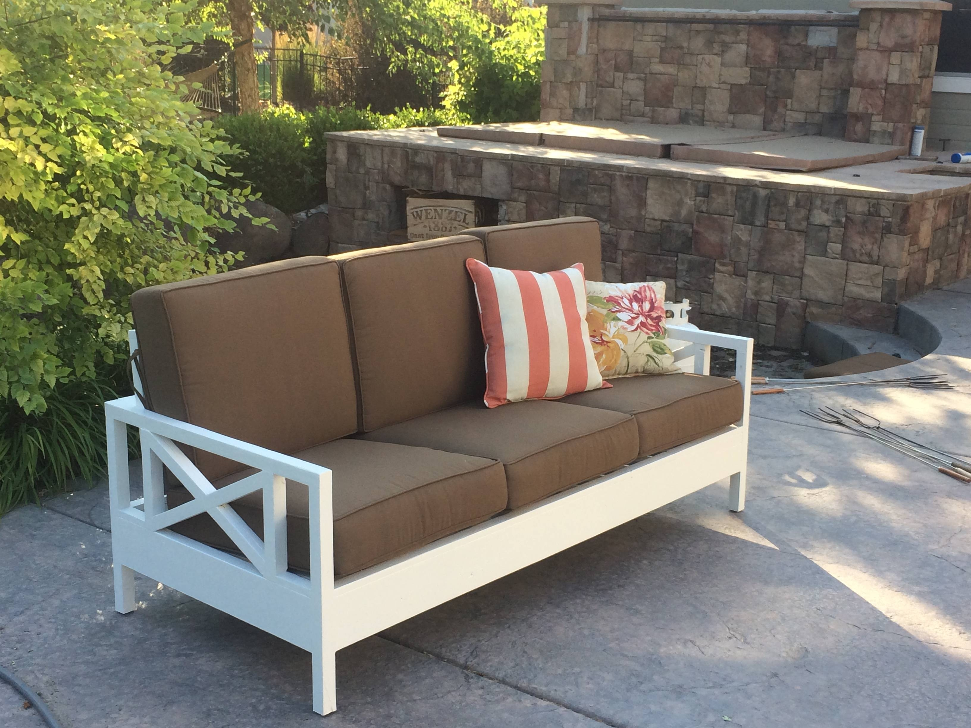 Ana White | Outdoor Sofa Mash-Up - Diy Projects intended for Ana White Outdoor Sofas (Image 9 of 15)