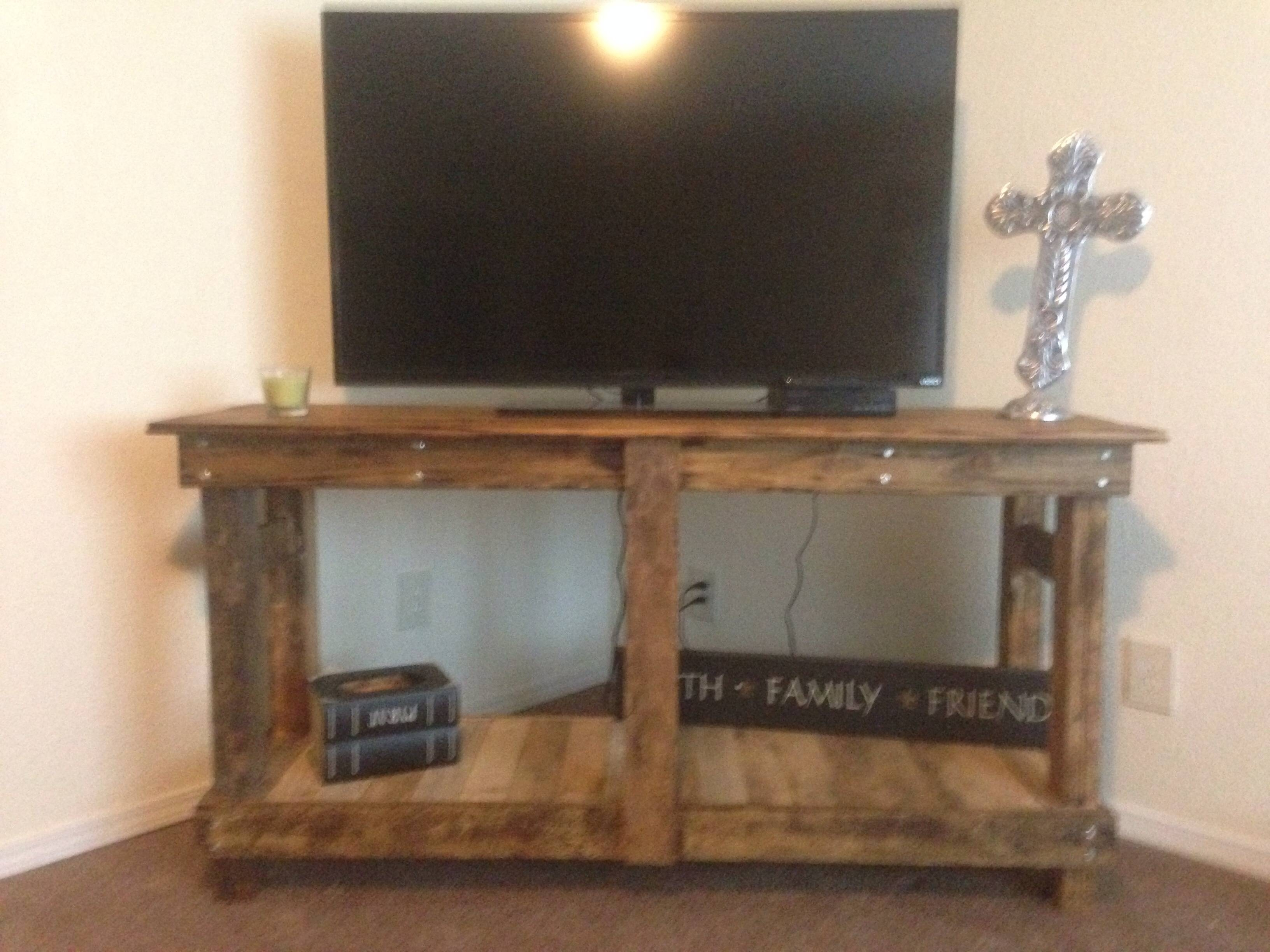 Ana White | Rustic Tv Stand - Diy Projects within Rustic Tv Cabinets (Image 1 of 15)