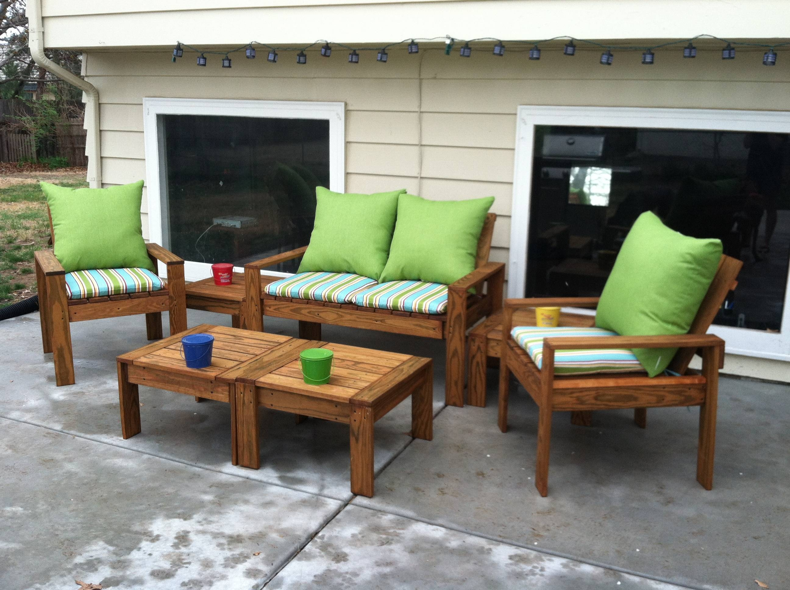 Ana White | Simple Outdoor Conversation Set - Diy Projects pertaining to Ana White Outdoor Sofas (Image 11 of 15)