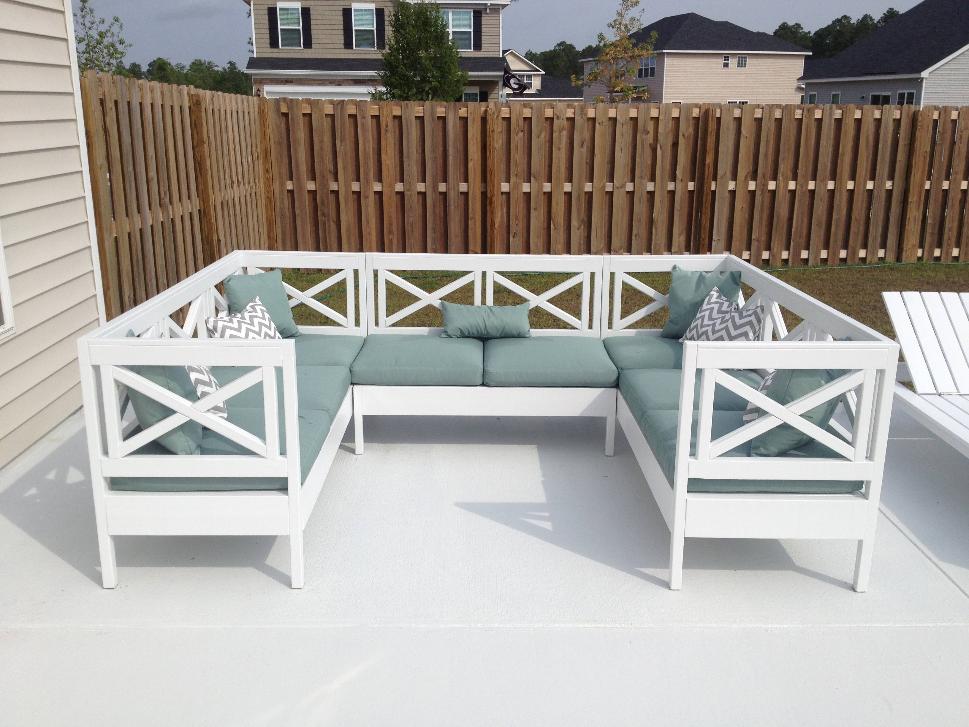 Ana White | Weatherly Outdoor Sectional! - Diy Projects pertaining to Ana White Outdoor Sofas (Image 12 of 15)