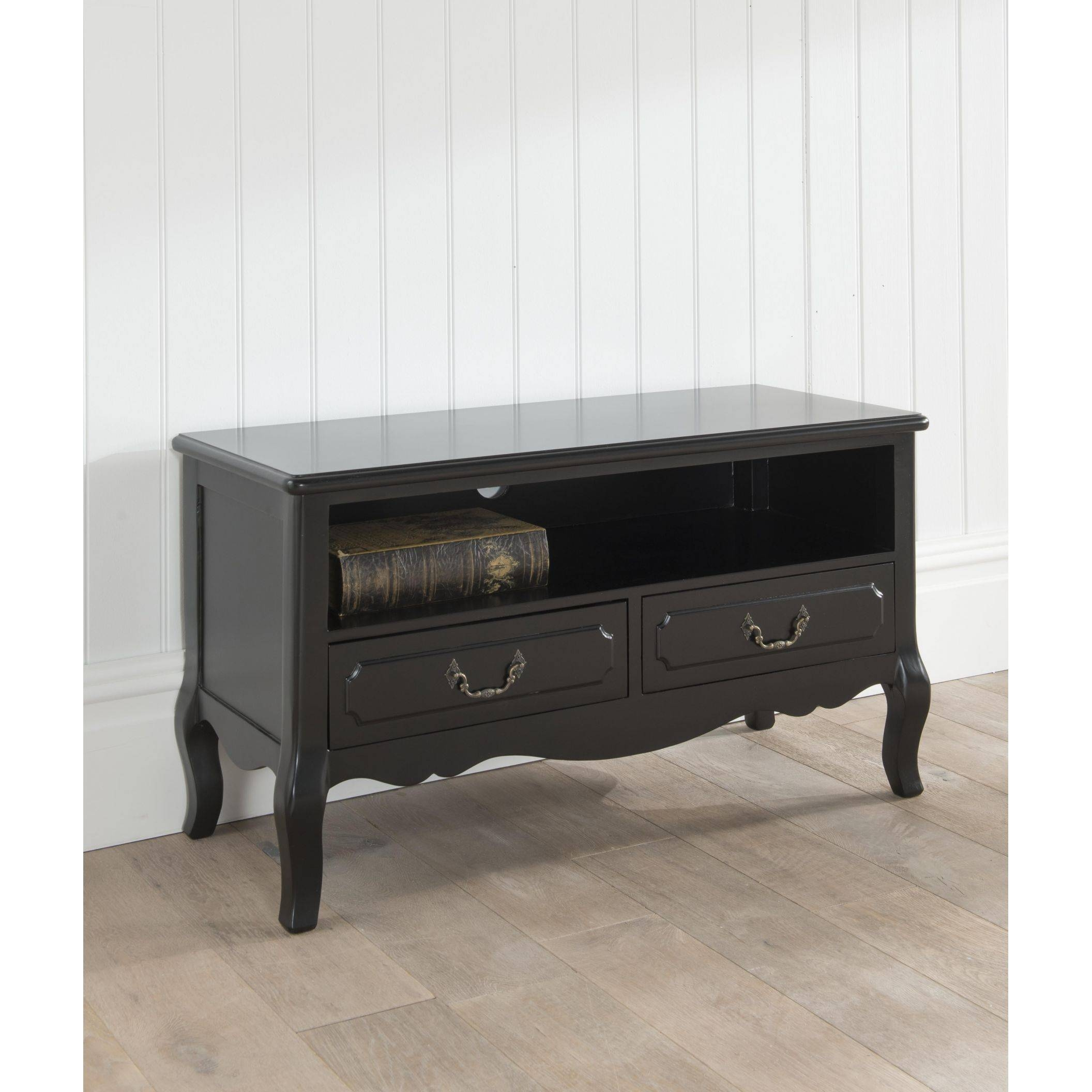Antique French Tv Stand | Black French Style Furniture with French Style Tv Cabinets (Image 3 of 15)