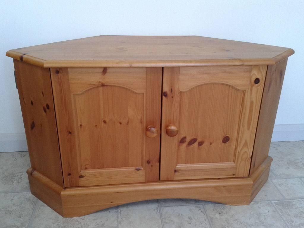 Antique Pine Corner Tv Cabinet/stand | In Wirksworth, Derbyshire Within Pine Corner Tv Stands (View 5 of 15)