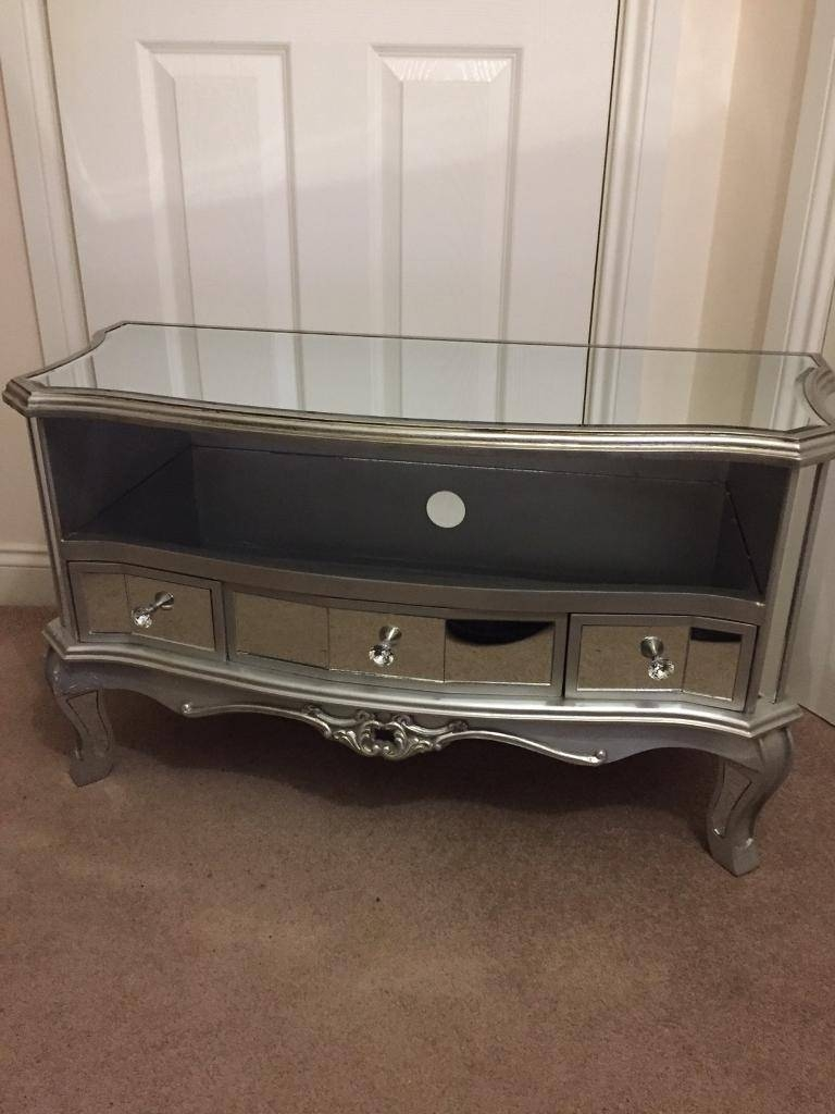 Argente Mirrored Tv Cabinet (New) | In Moortown, West Yorkshire with regard to Mirror Tv Cabinets (Image 2 of 15)