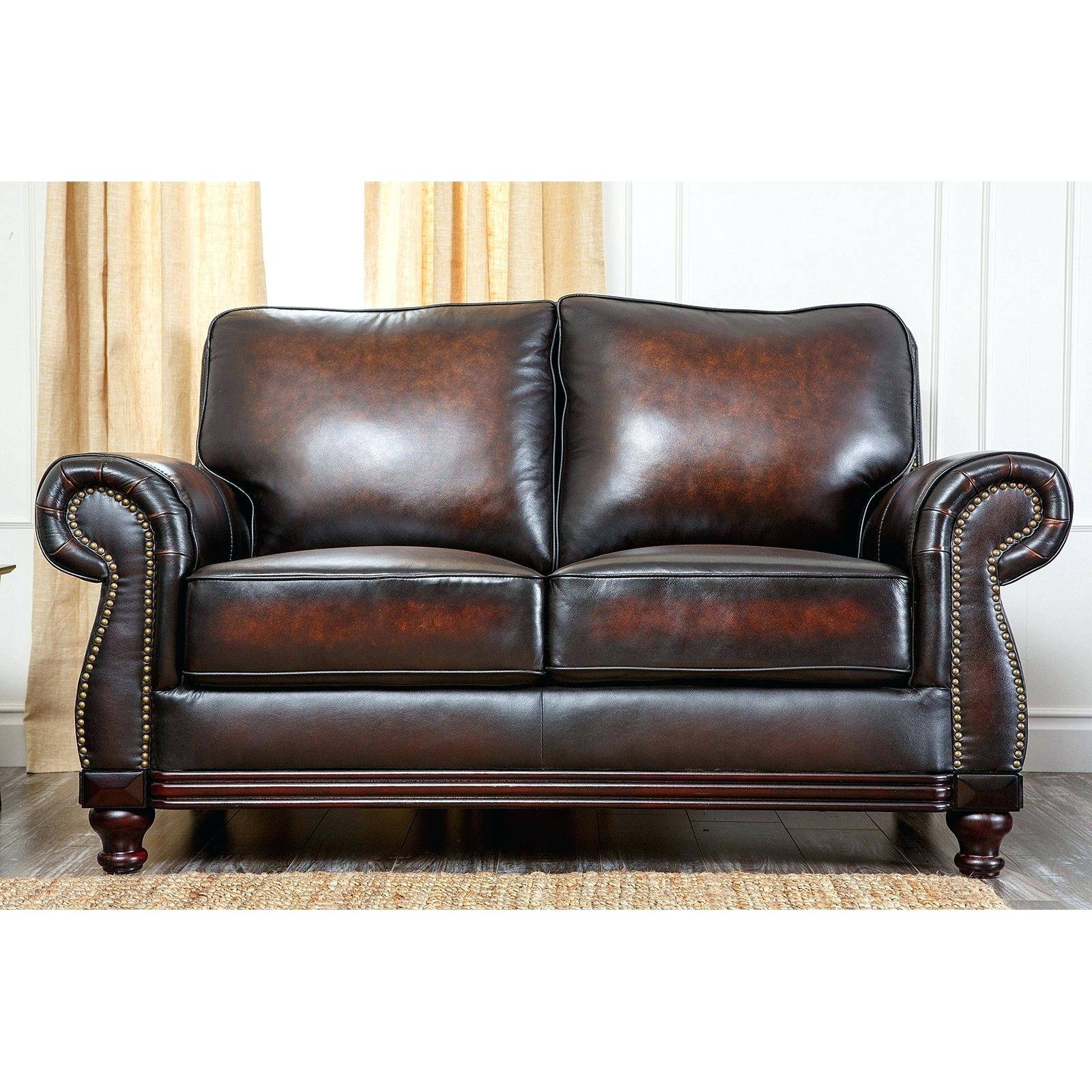 Arhaus Leather Sofa Abbyson Barclay 4 Piece Hand Rubbed Set Brown inside Arhaus Leather Sofas (Image 2 of 15)
