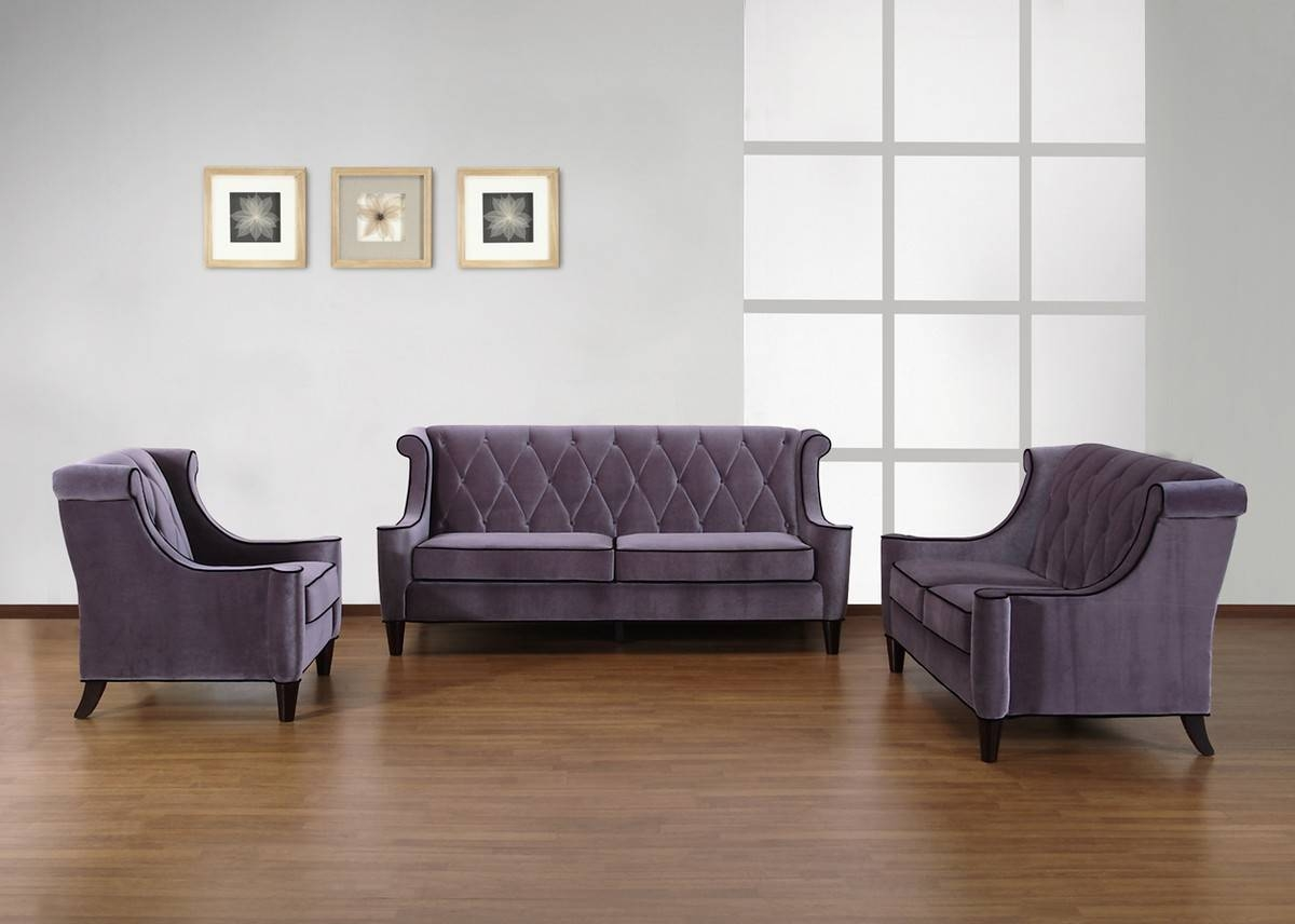 Armen Living Barrister Sofa Gray Velvet - Black Piping Al for Barrister Velvet Sofas (Image 8 of 15)