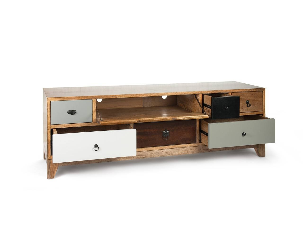 Artisan Tv Stand - Mango Wood Television Stand - Puji Furniture inside Mango Tv Unit (Image 2 of 15)