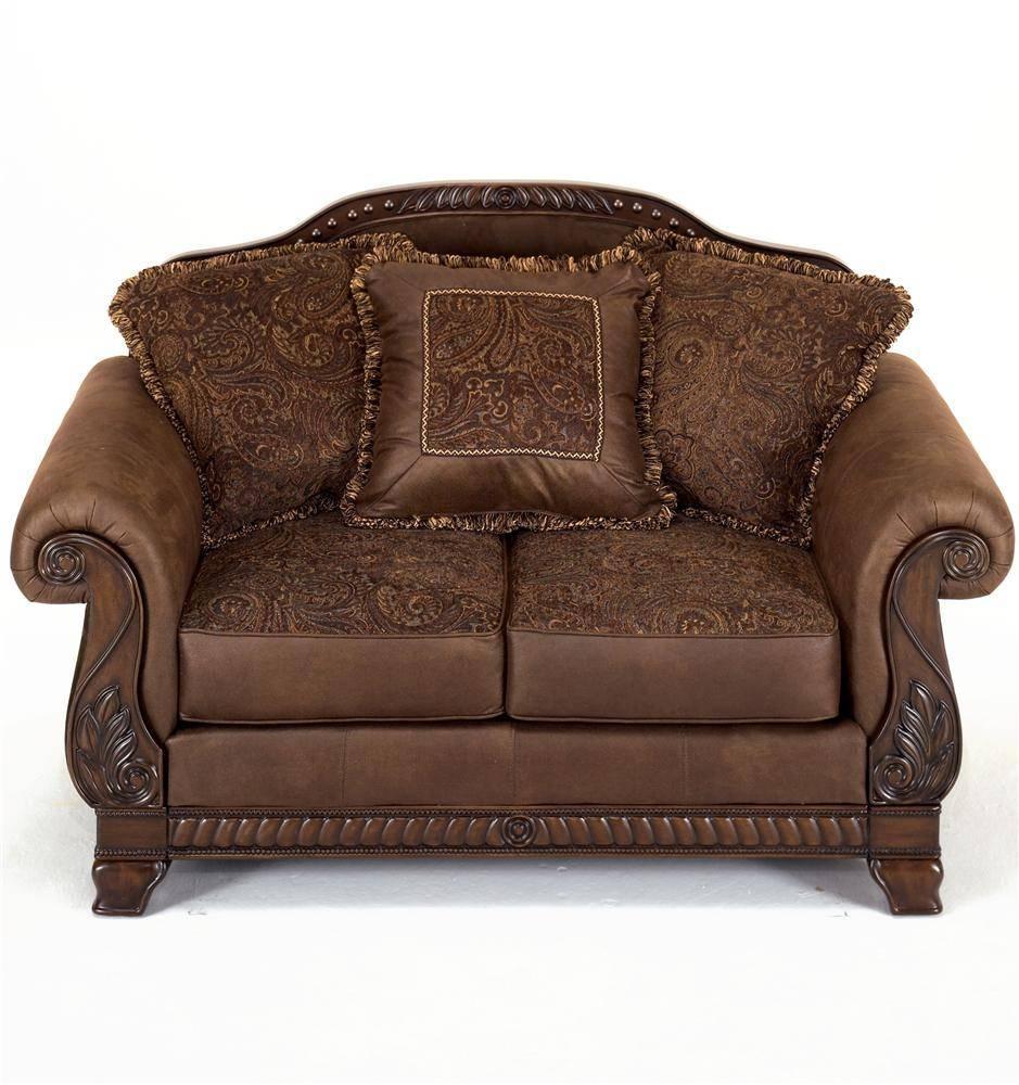 Ashley Furniture Bradington - Truffle Upholstered Loveseat - Ahfa throughout Bradington Truffle (Image 2 of 15)