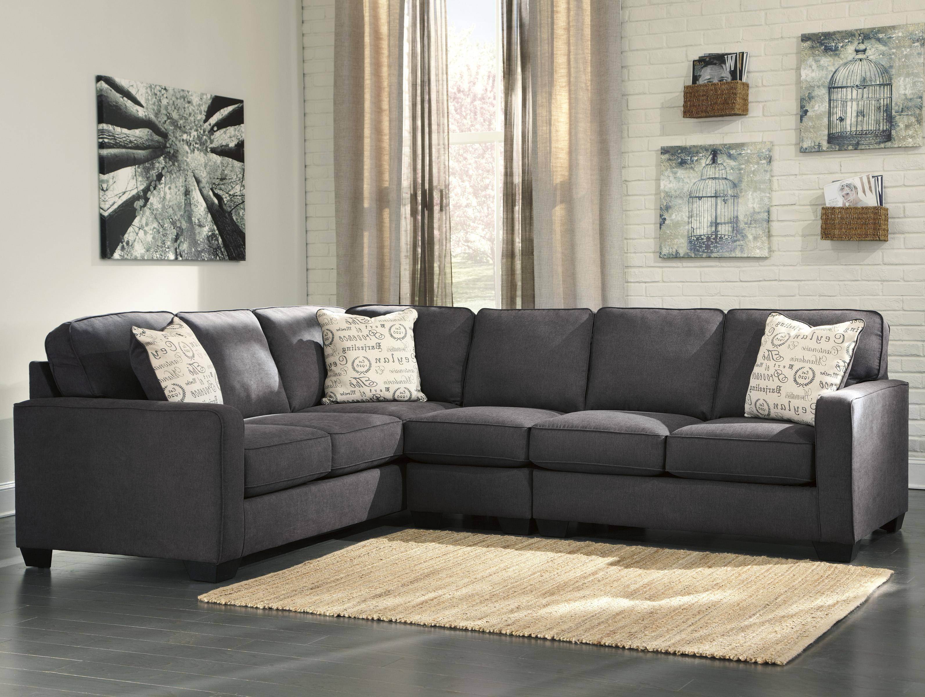 Ashley Signature Design Alenya - Charcoal 3-Piece Sectional With with regard to Signature Design Sectional Sofas (Image 1 of 15)