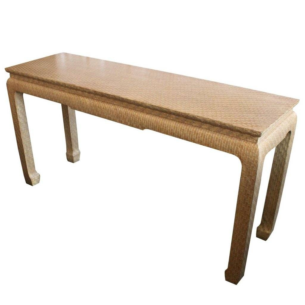 Asian Style Grasscloth Console Tablebaker At 1Stdibs inside Asian Sofa Tables (Image 5 of 15)