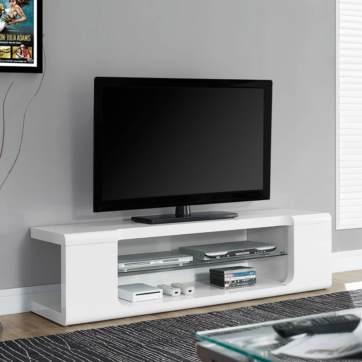 Astin Monarch Modern Tv Stand | Tv Console | White Media Console With Regard To White Modern Tv Stands (View 15 of 15)