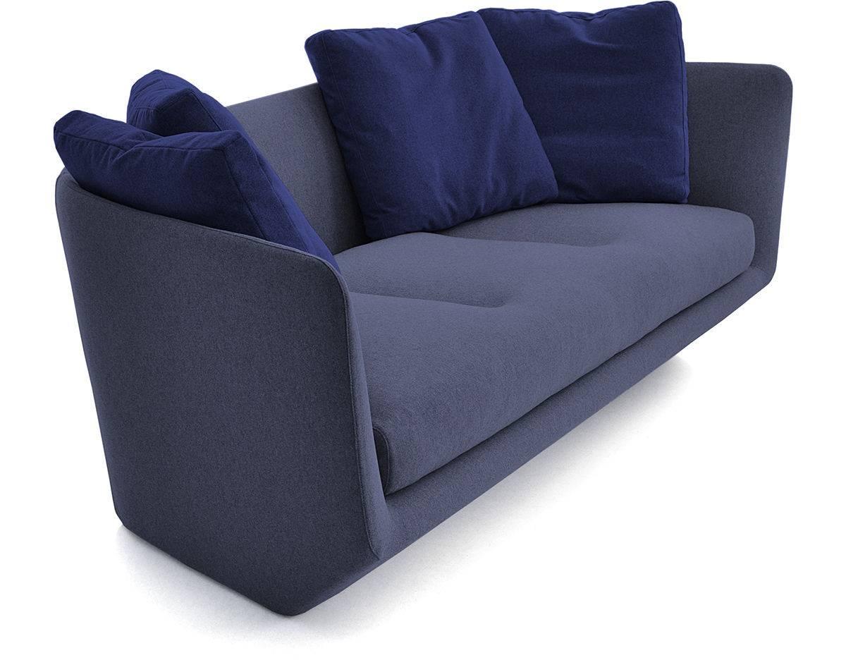 Aura 220 Three Seat Sofa - Hivemodern throughout Bensen Sofas (Image 1 of 15)