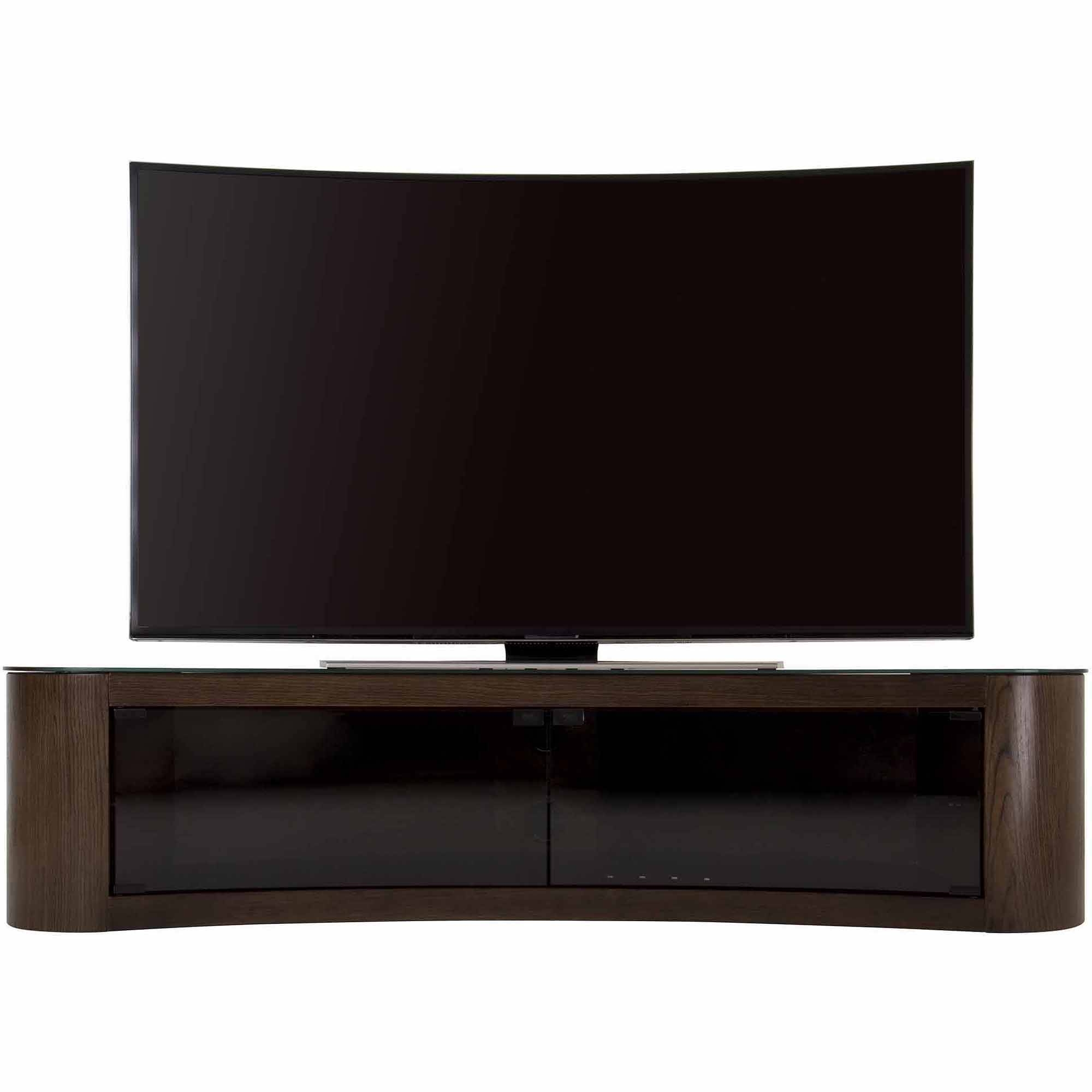 """Avf Bay Curved Tv Stand For Tvs Up To 70"""" – Walmart With Regard To Tv Stands For 43 Inch Tv (View 6 of 15)"""