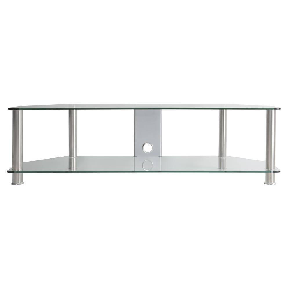 Avf Sdc1400Cmcc-A Tv Stand With Cable Management For Up To 65 In with Clear Glass Tv Stand (Image 3 of 15)