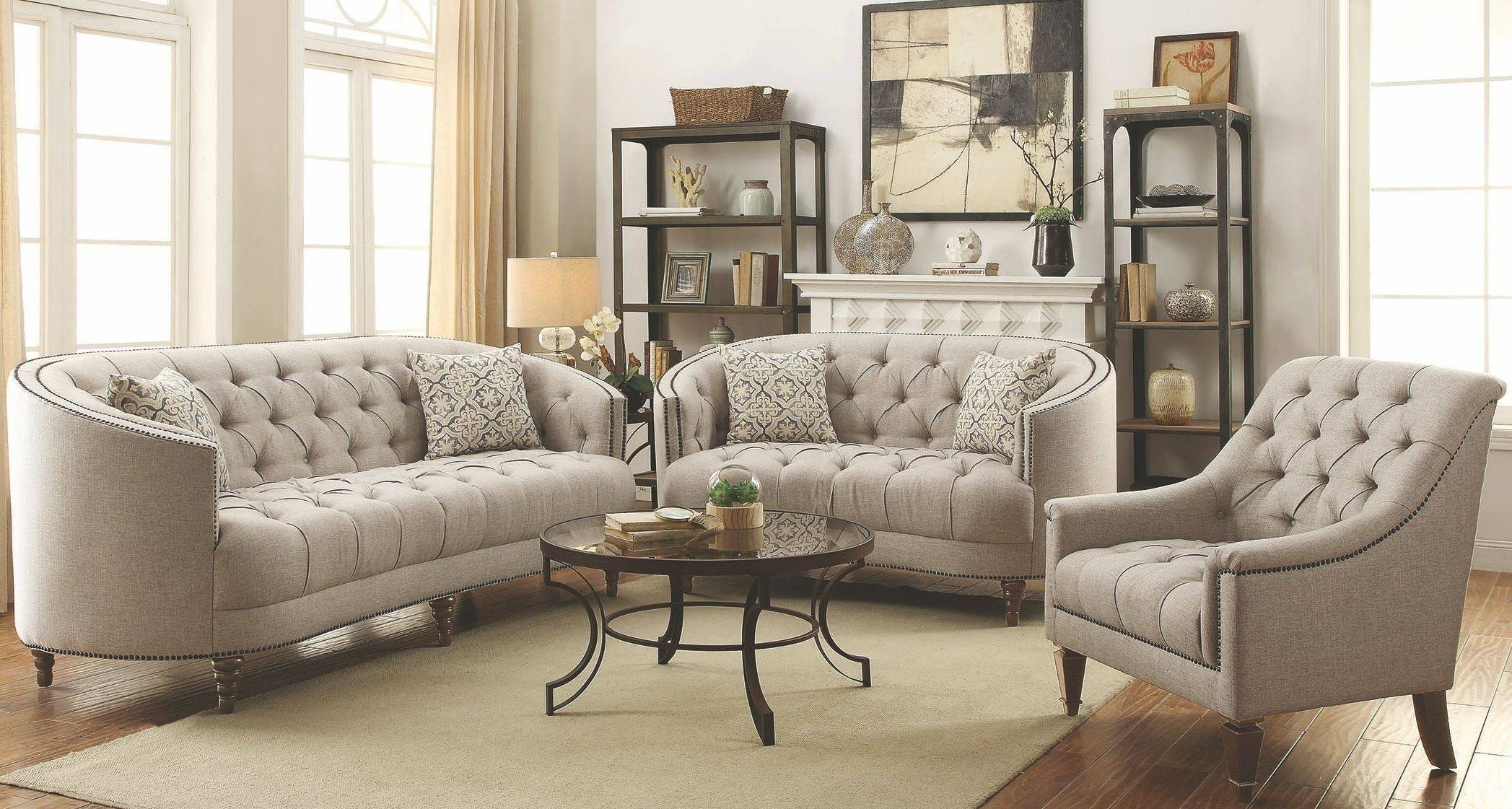Avonlea Stone Grey Sofa for Broyhill Perspectives Sofas (Image 2 of 15)