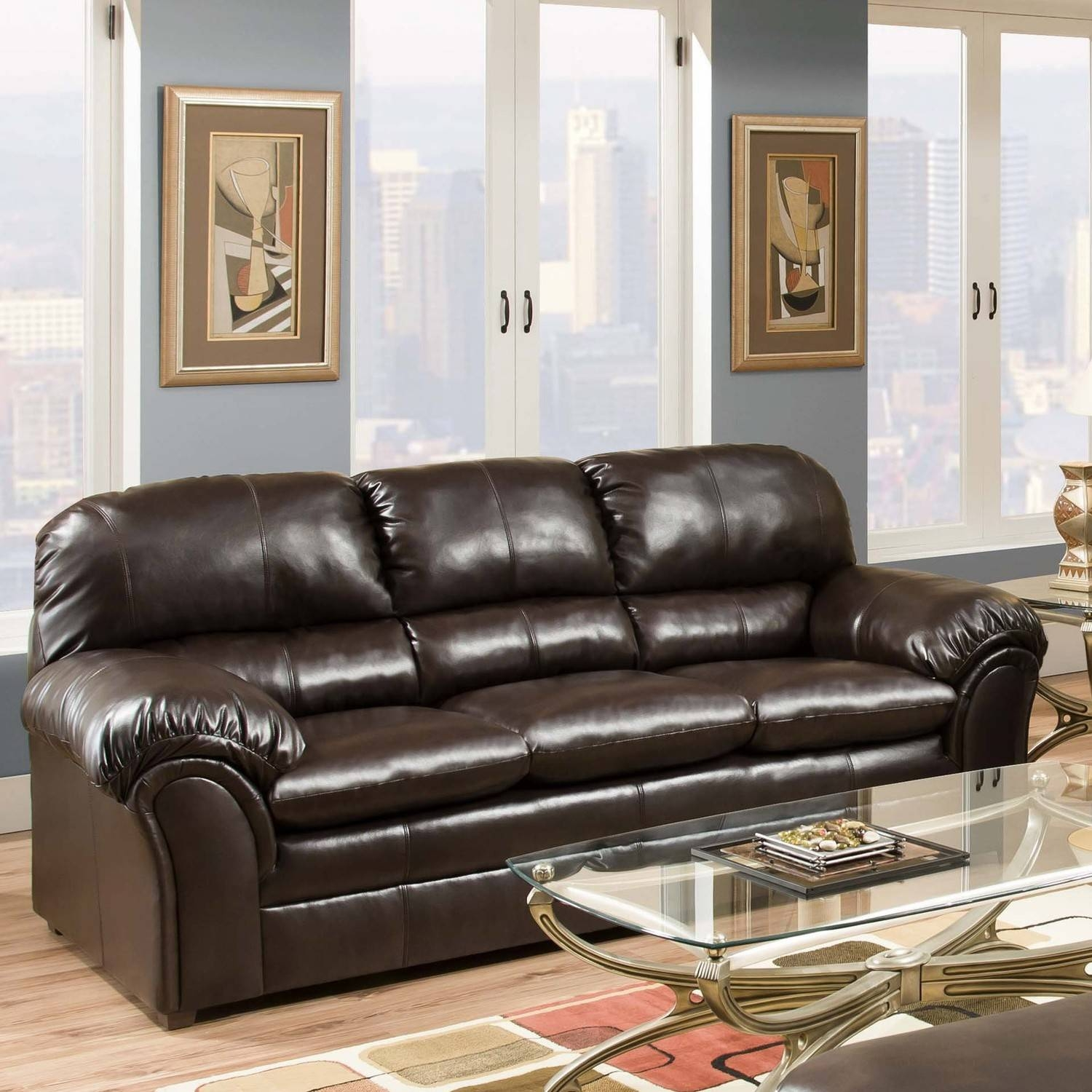 Awesome Faux Leather Sleeper Sofa 28 For Your Living Room Sofa in Faux Leather Sleeper Sofas (Image 3 of 15)