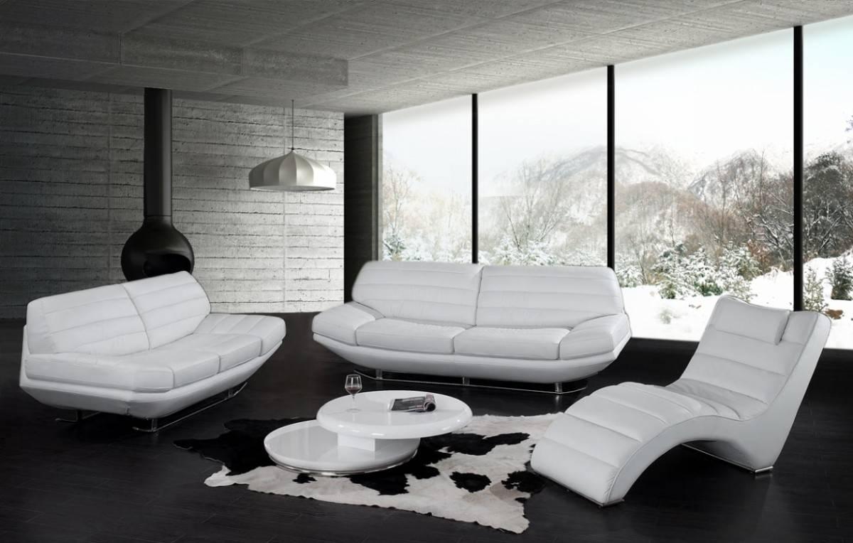 Awesome Modern Luxury White Leather Sofa - Designoursign regarding Black and White Leather Sofas (Image 2 of 15)