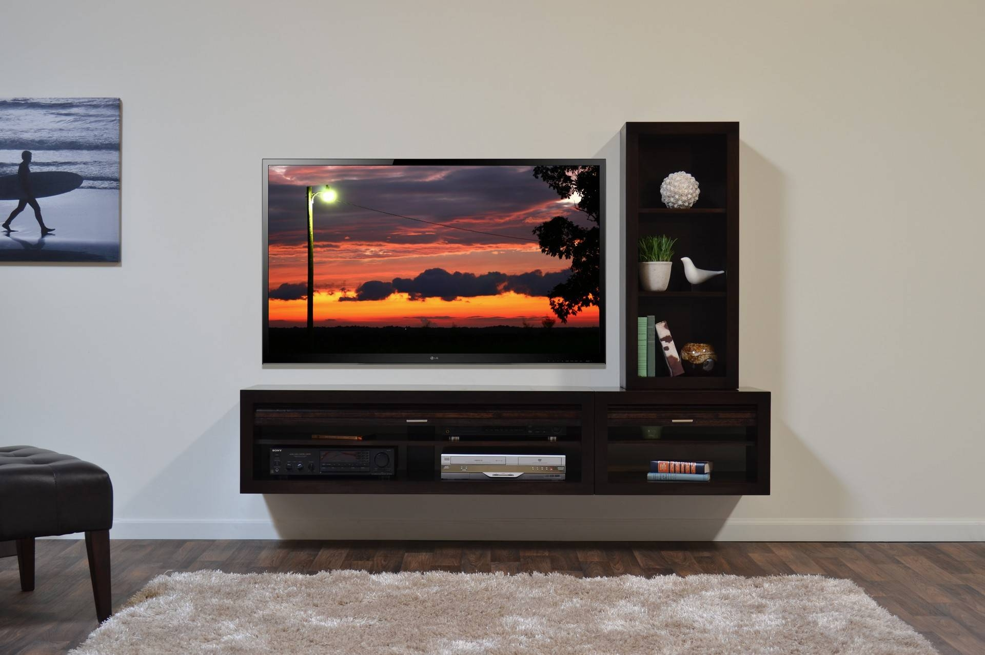 Awesome Tv Wall Cabinet Design Ideas | Home Decorating Ideas Pertaining To Modern Lcd Tv Cases (View 11 of 15)