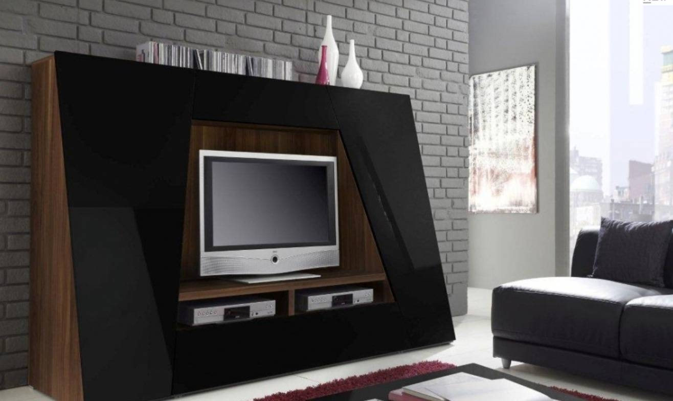 Awesome Unusual Tv Stands With Led Tv Above Two Dvd Player Front with regard to Unusual Tv Stands (Image 1 of 15)