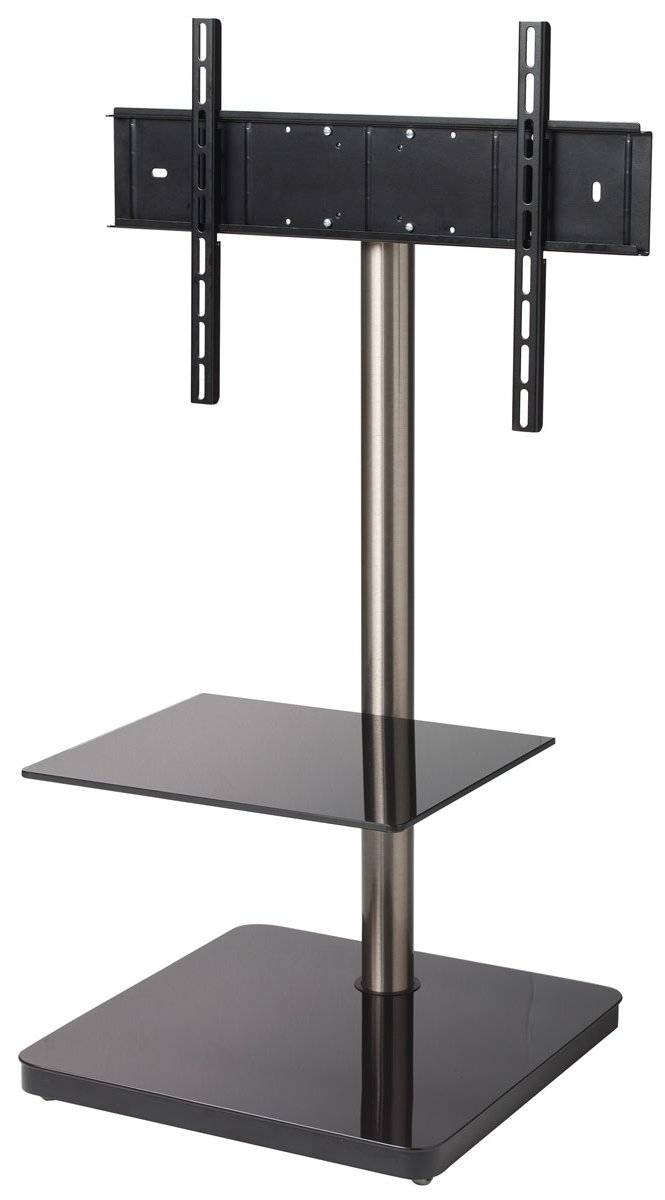 B-Tech Btf800 Black Cantilever Tv Stand pertaining to Cantilever Tv Stands (Image 6 of 15)
