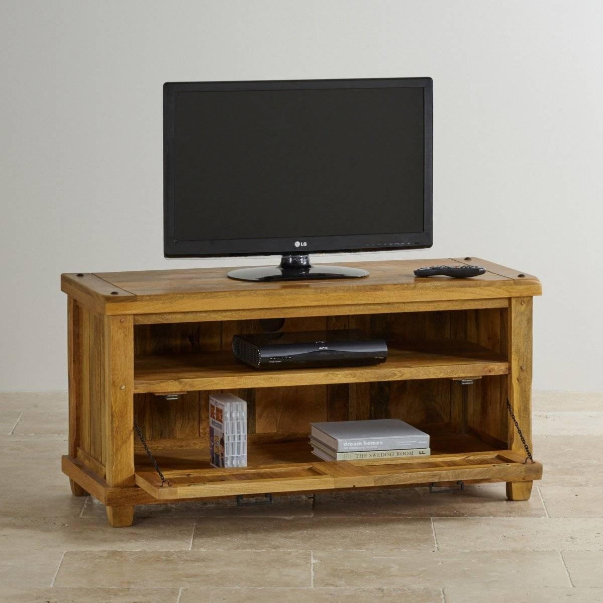 Baku Light Tv Unit In Natural Solid Mango   Oak Furniture Land In Mango Tv Unit (View 11 of 15)