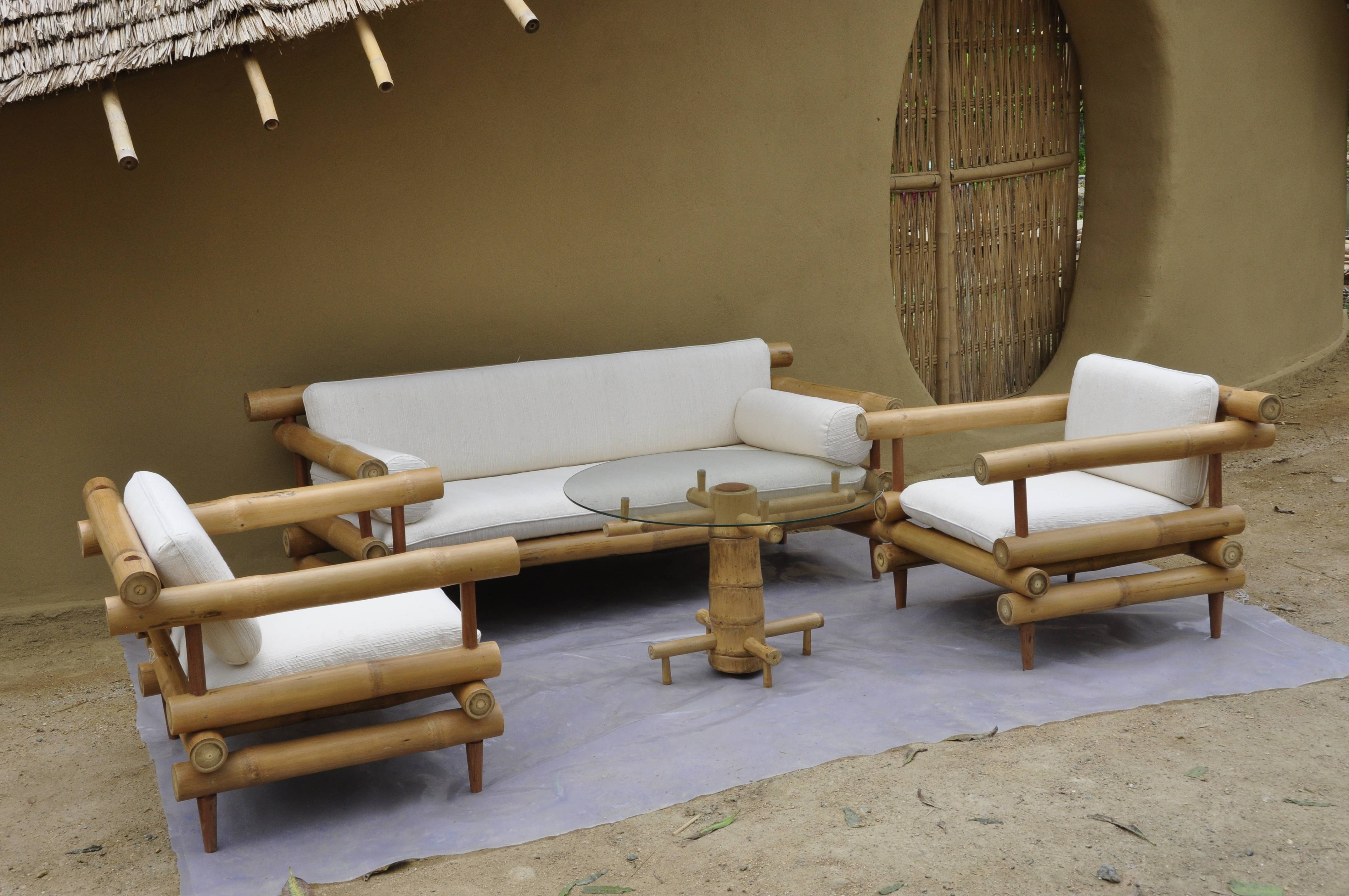 Bamboo Sofa Set (1) - Bamboo Earth Architecture - Chiangmai Life with Bamboo Sofas (Image 4 of 15)