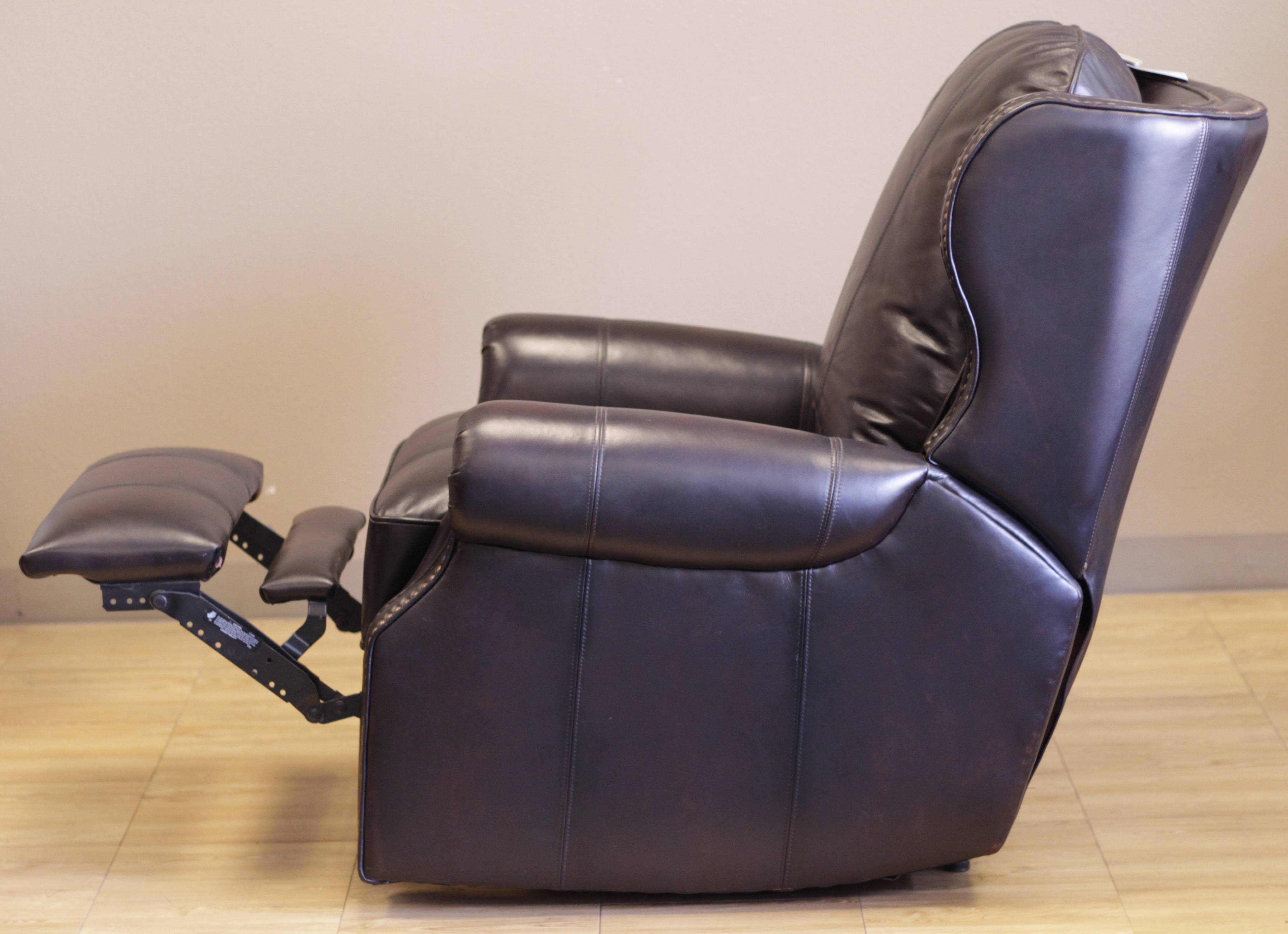 Barcalounger Bristol Ii Wall Hugger Recliner Chair - Leather for Barcalounger Sofas (Image 4 of 15)