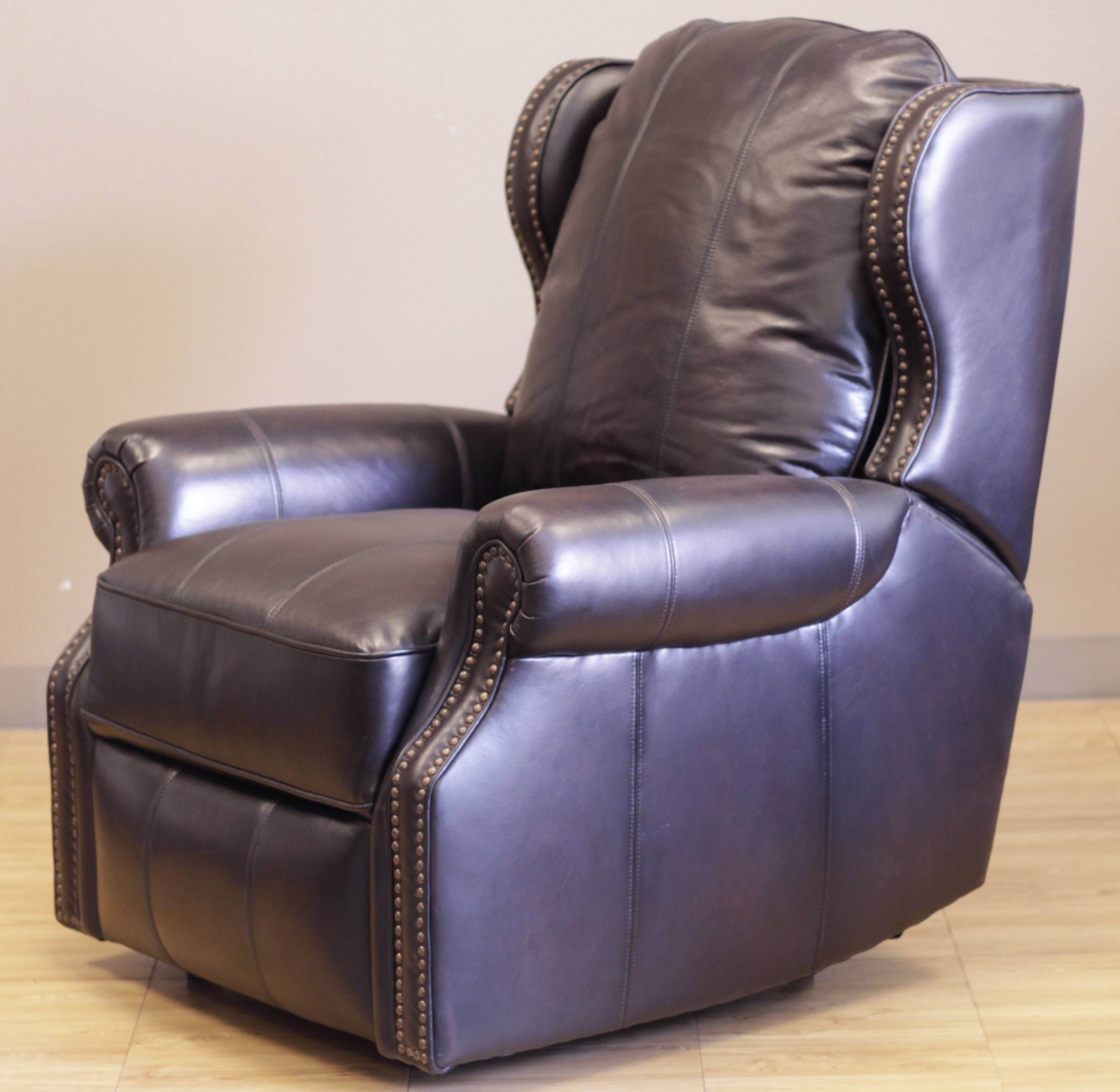 Barcalounger Bristol Ii Wall Hugger Recliner Chair - Leather within Barcalounger Sofas (Image 5 of 15)