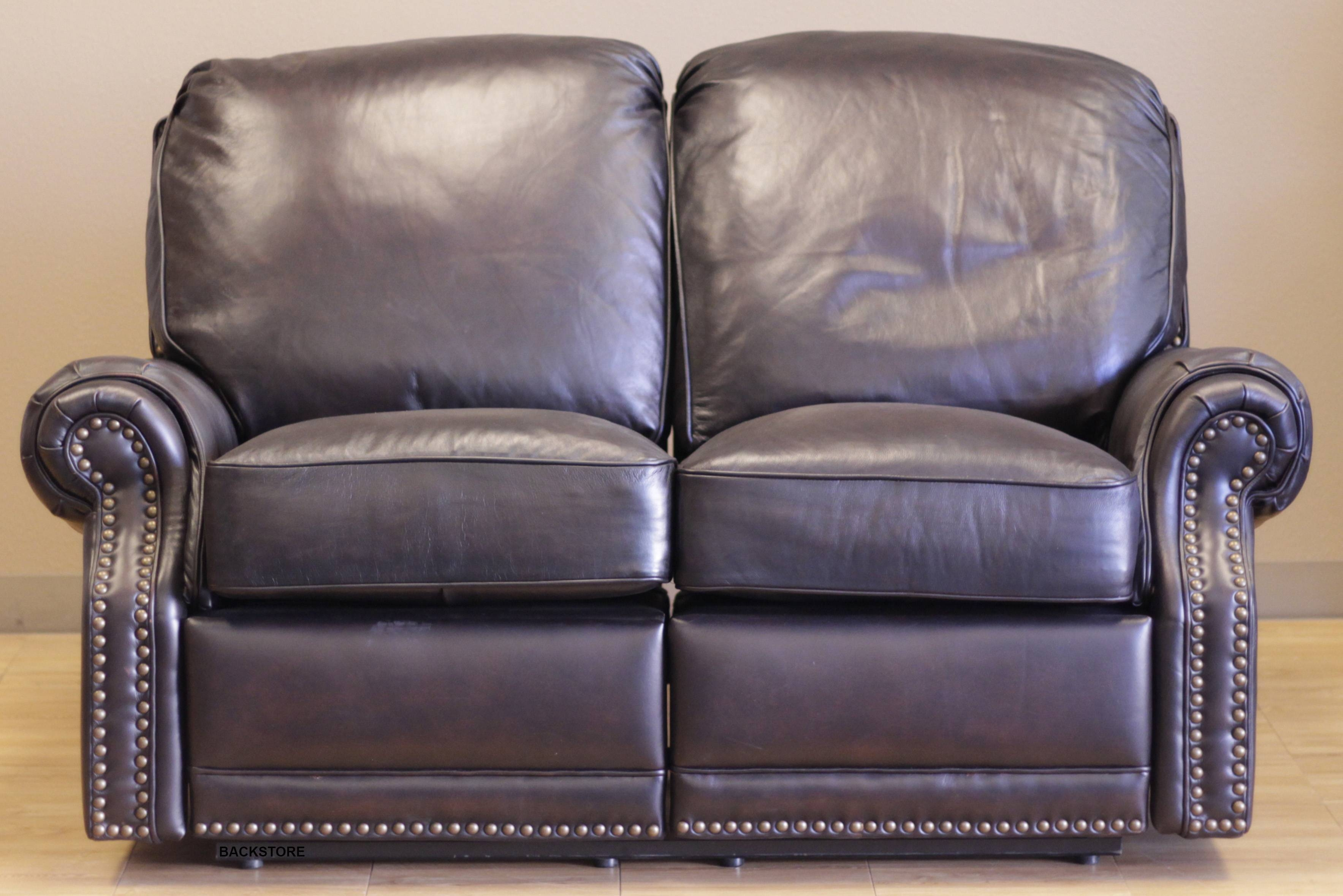 Barcalounger Premier Ii Leather 2 Seat Loveseat Sofa - Leather 2 with Barcalounger Sofas (Image 11 of 15)