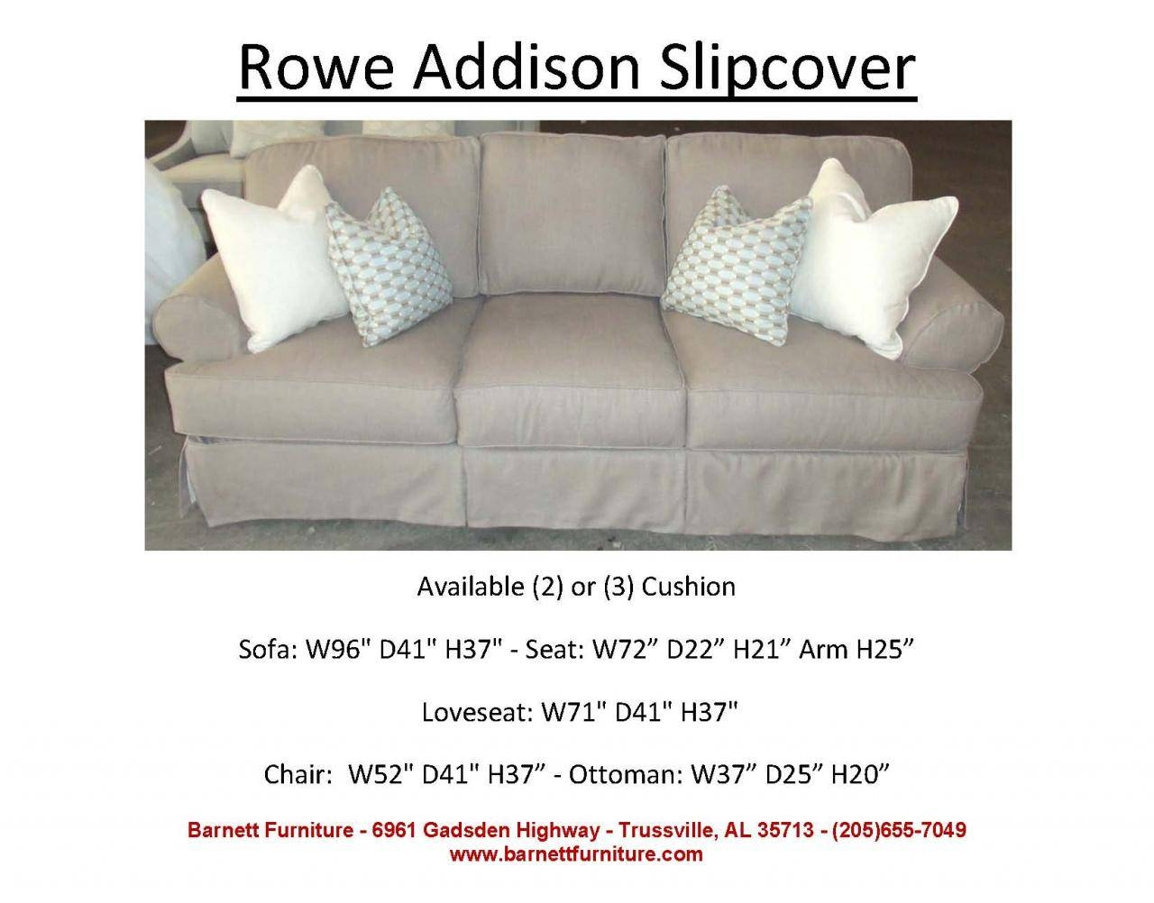 Barnett Furniture - Slipcover Sofas Sectionals, Chair And Ottoman with regard to Rowe Slipcovers (Image 1 of 15)