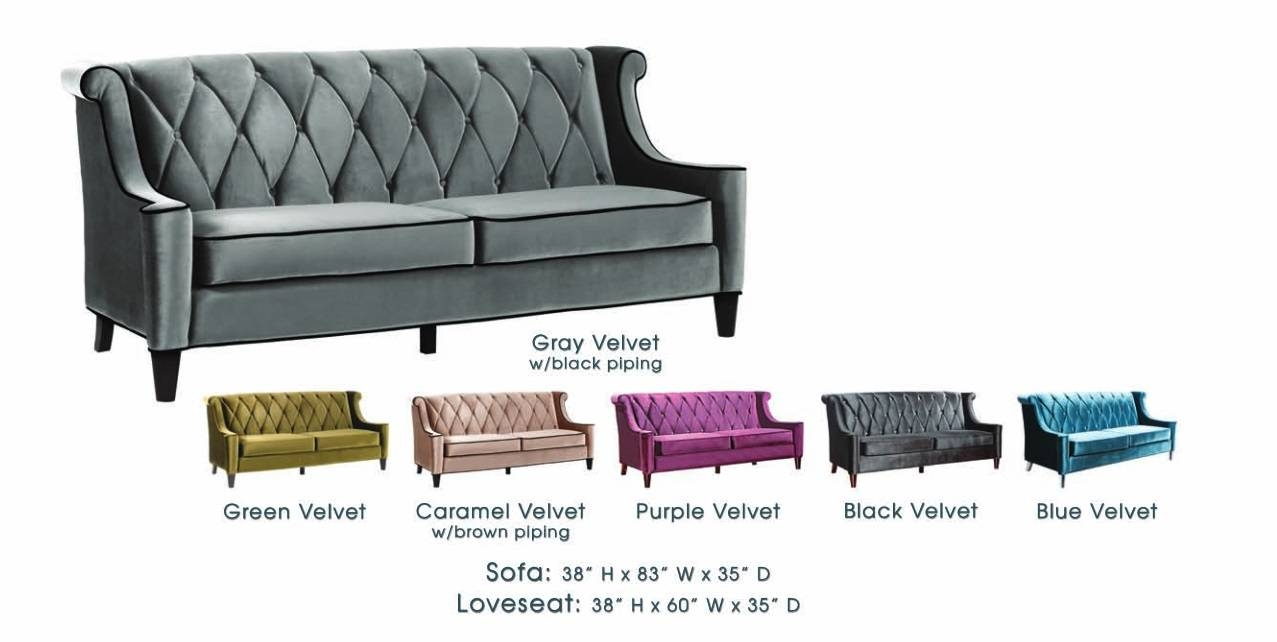Barrister Velvet Club Chair Lc844C - Usa Warehouse Furniture in Barrister Velvet Sofas (Image 11 of 15)