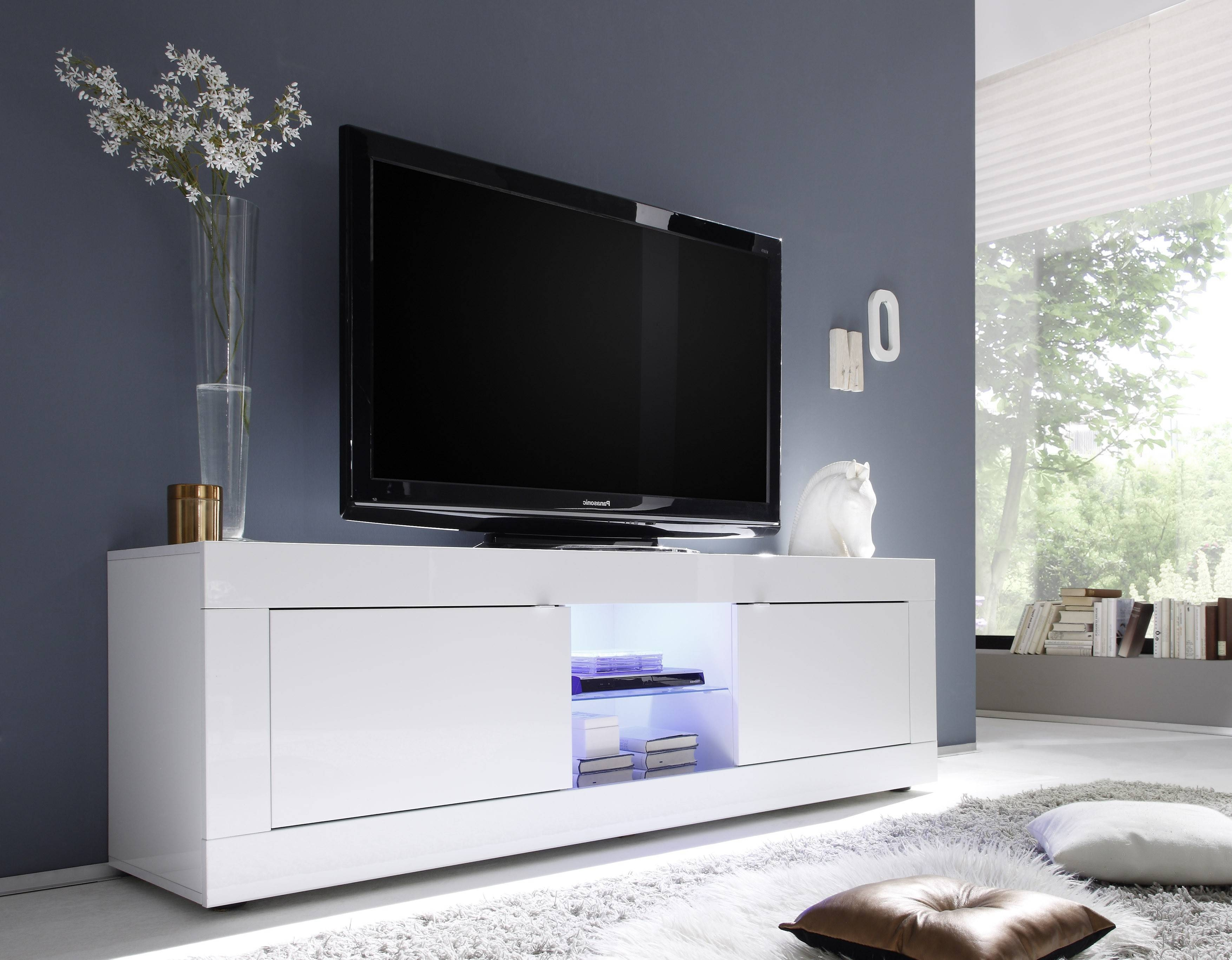 Basic Big Tv Stand, All White Buy Online At Best Price - Sohomod intended for Long White Tv Stands (Image 1 of 15)