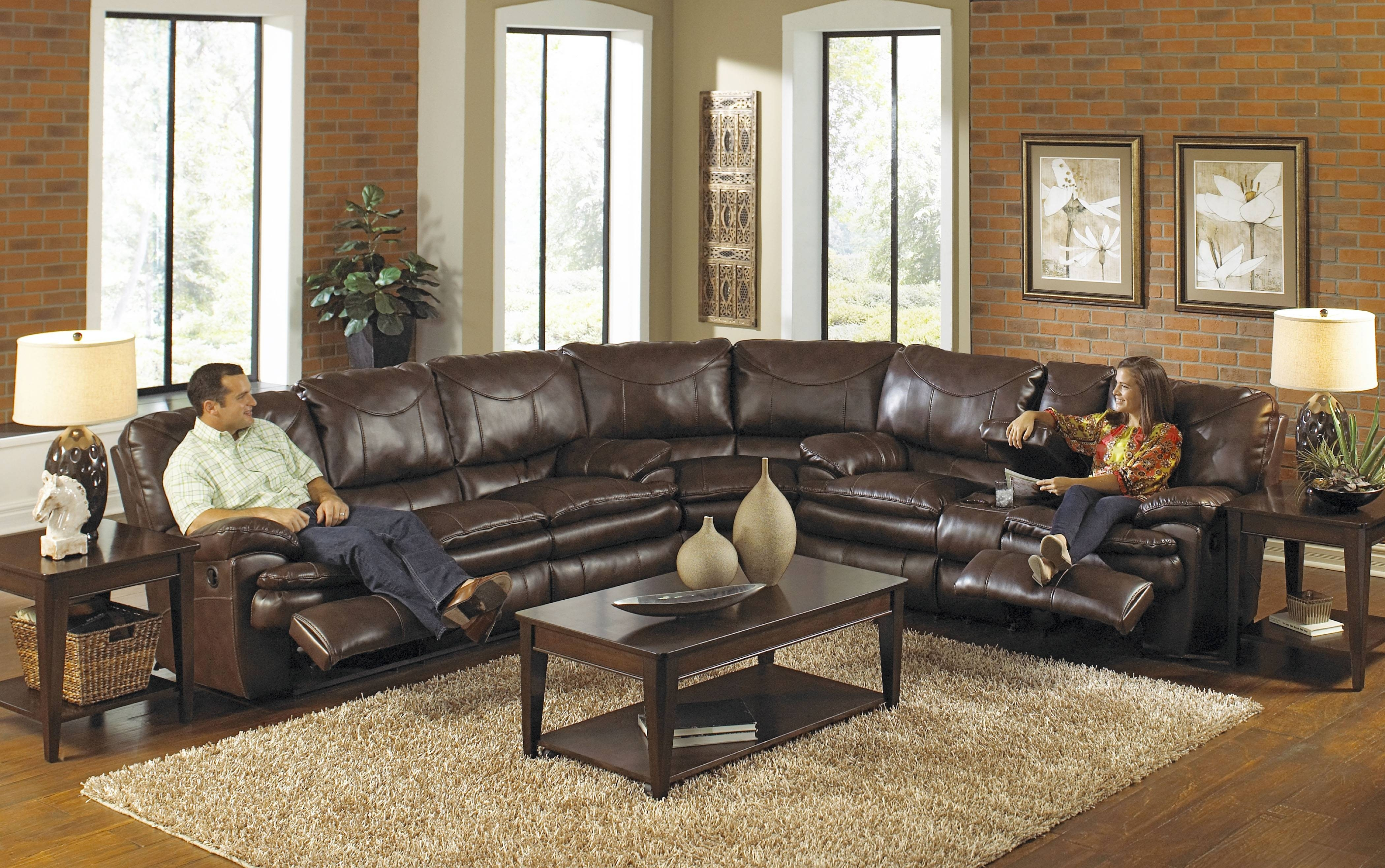 Beautiful Leather Sectional Sleeper Sofa With Recliners 37 For intended for Broyhill Sectional Sleeper Sofas (Image 4 of 15)