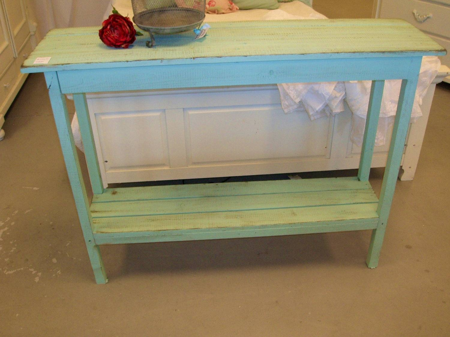 Bedroom : Cute Cottage Console Table Shabby Chic Kenryandcompany with regard to Shabby Chic Sofa Tables (Image 2 of 15)