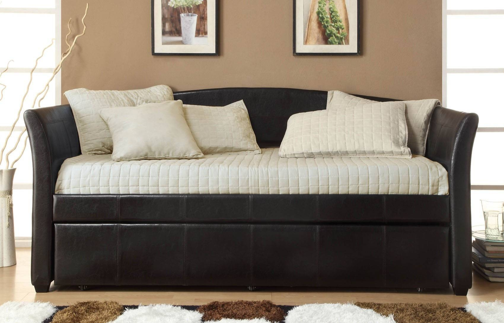 Bedroom Furniture Sets : Day Bed With Trundle Teen Daybed Daybed pertaining to Sofa Beds With Trundle (Image 3 of 15)